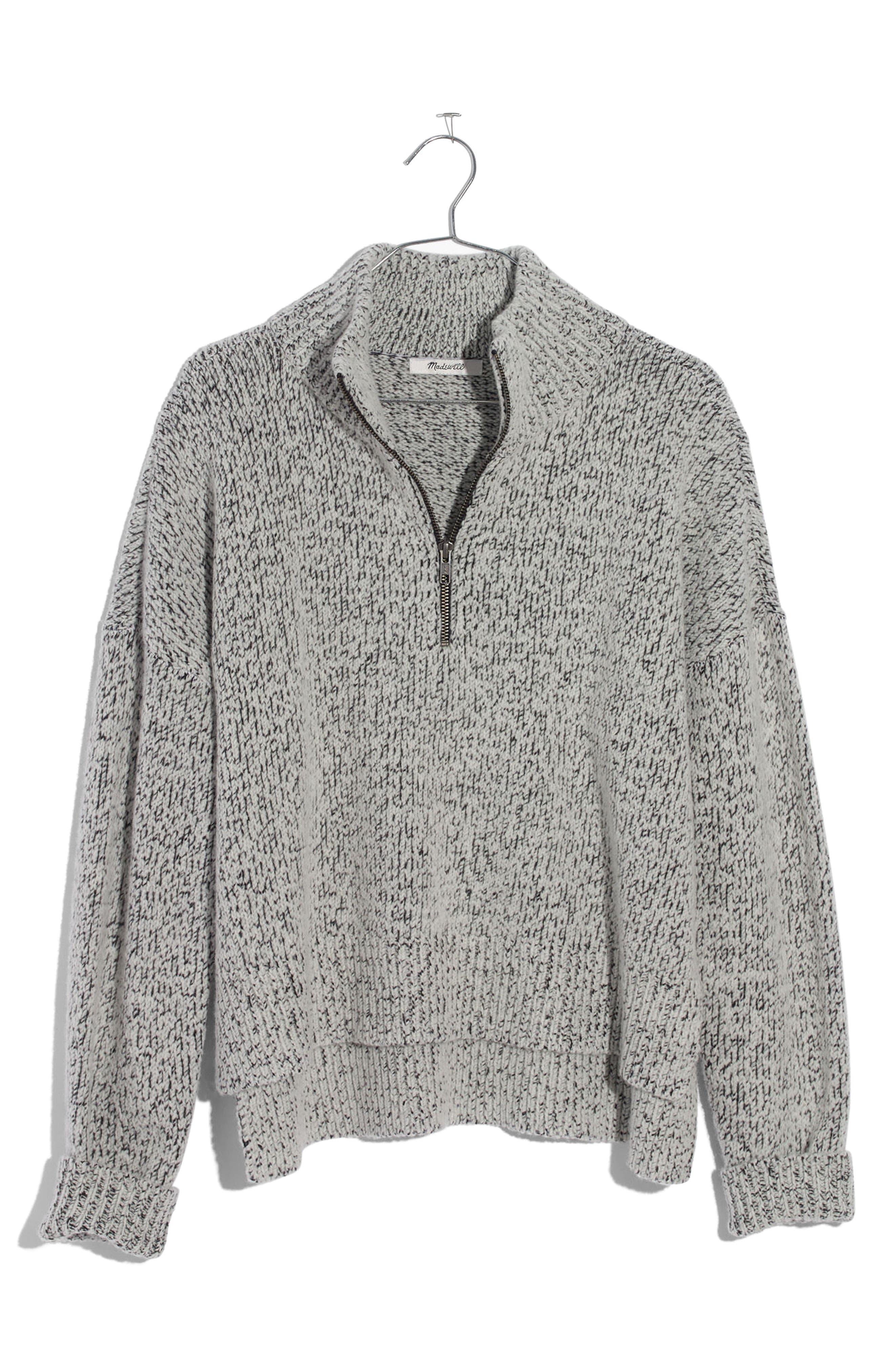 Marled Half Zip Sweater,                             Alternate thumbnail 4, color,                             020