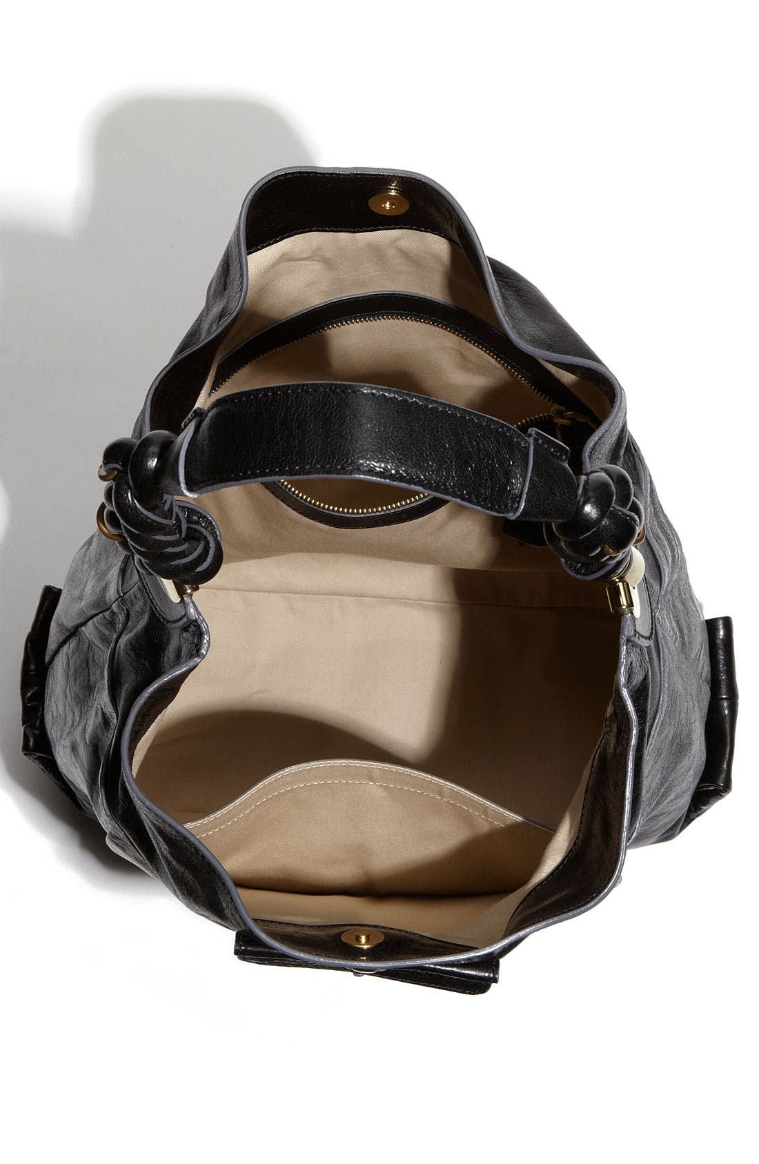 'Heloise' Leather Hobo,                             Alternate thumbnail 2, color,                             001