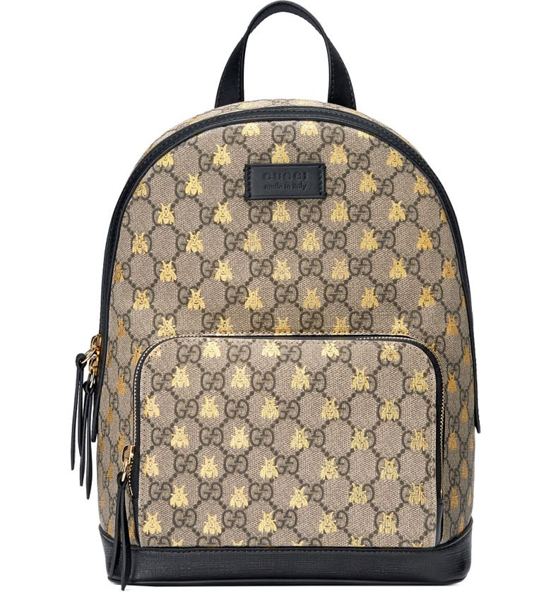 067da93e7f4f Gucci Bee GG Supreme Canvas Backpack