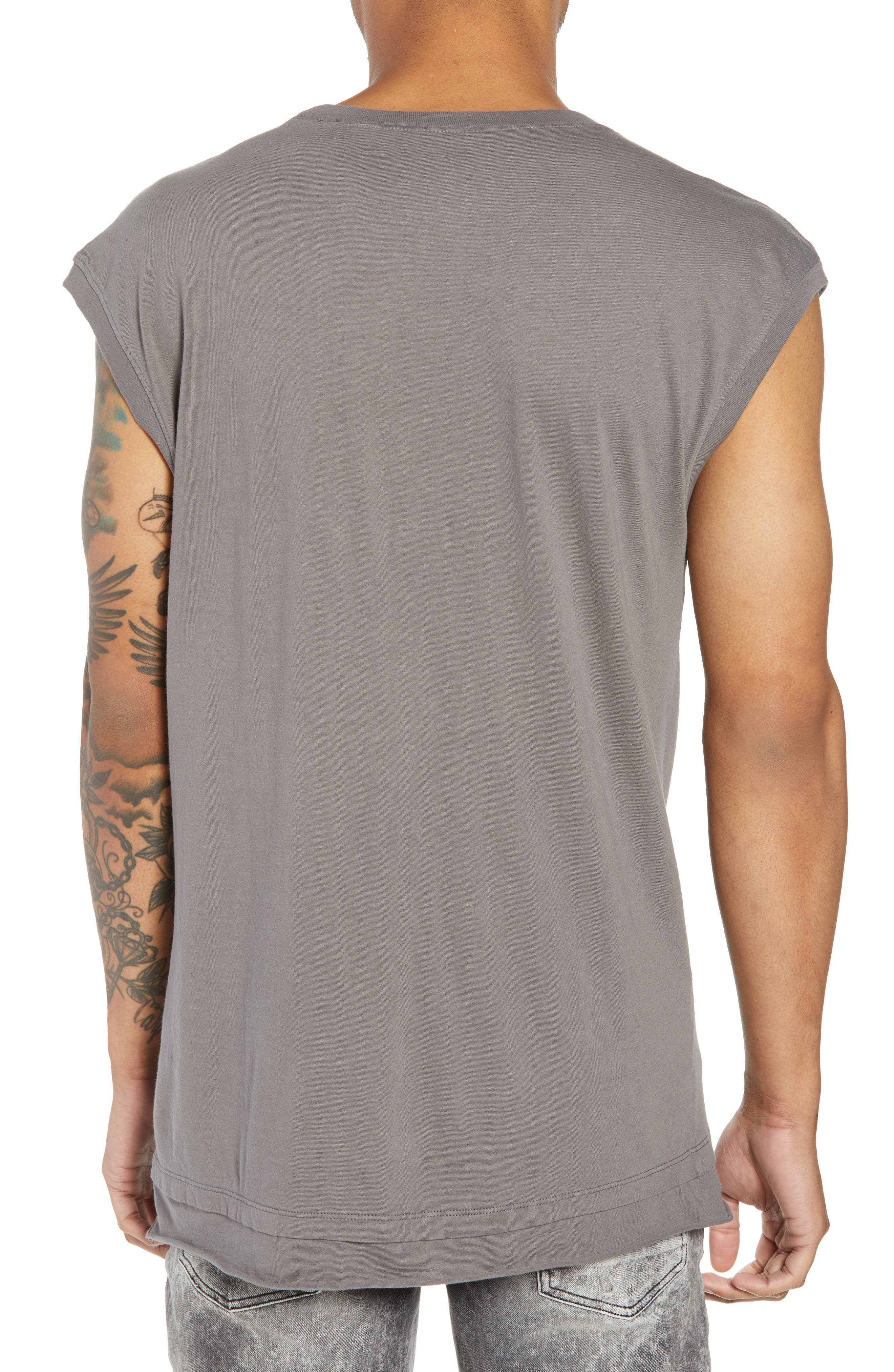 Layered Muscle Tank,                             Alternate thumbnail 2, color,                             GREY CHARCOAL