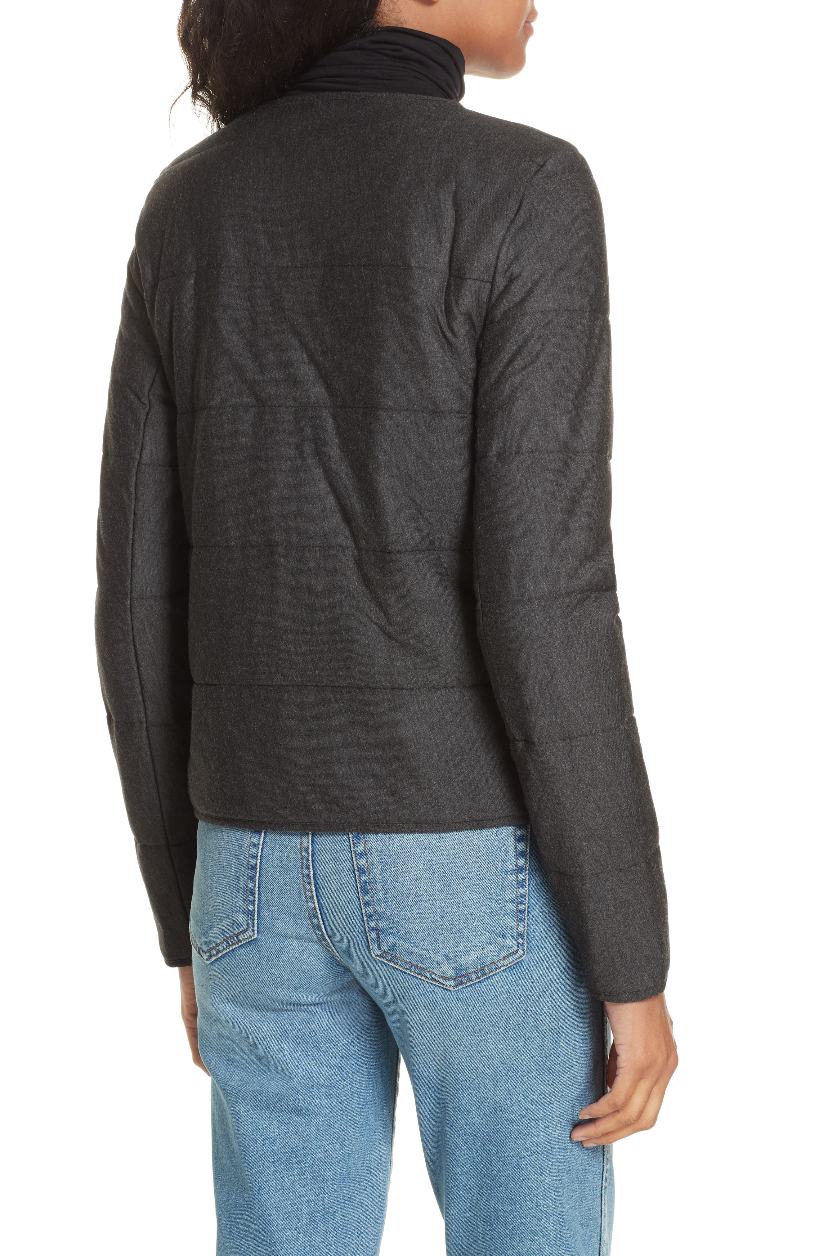 Quilted Bolero Jacket,                             Alternate thumbnail 2, color,                             ANTHRACITE