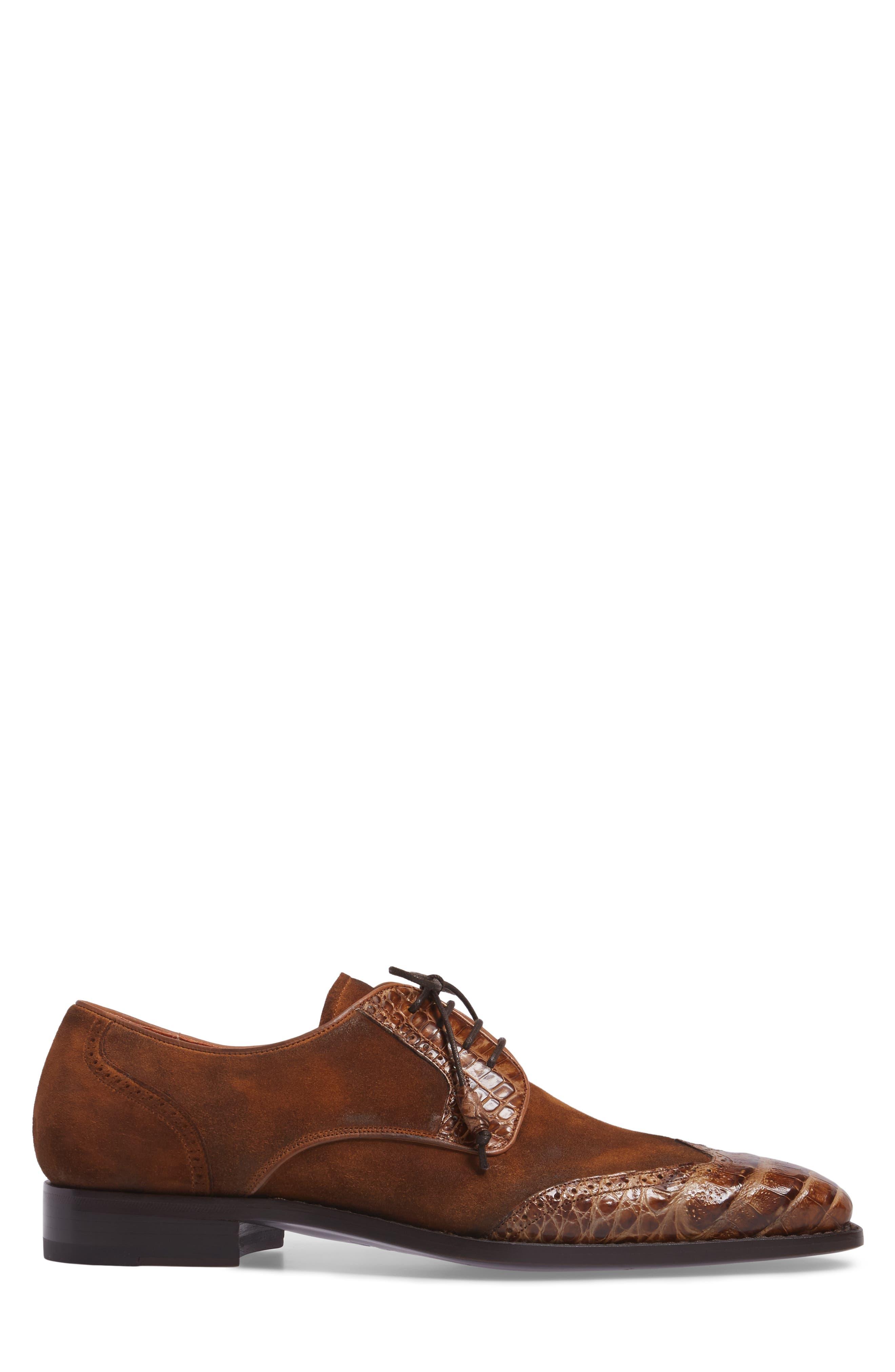 Nunez Spectator Shoe,                             Alternate thumbnail 3, color,                             CAMEL/ BEIGE