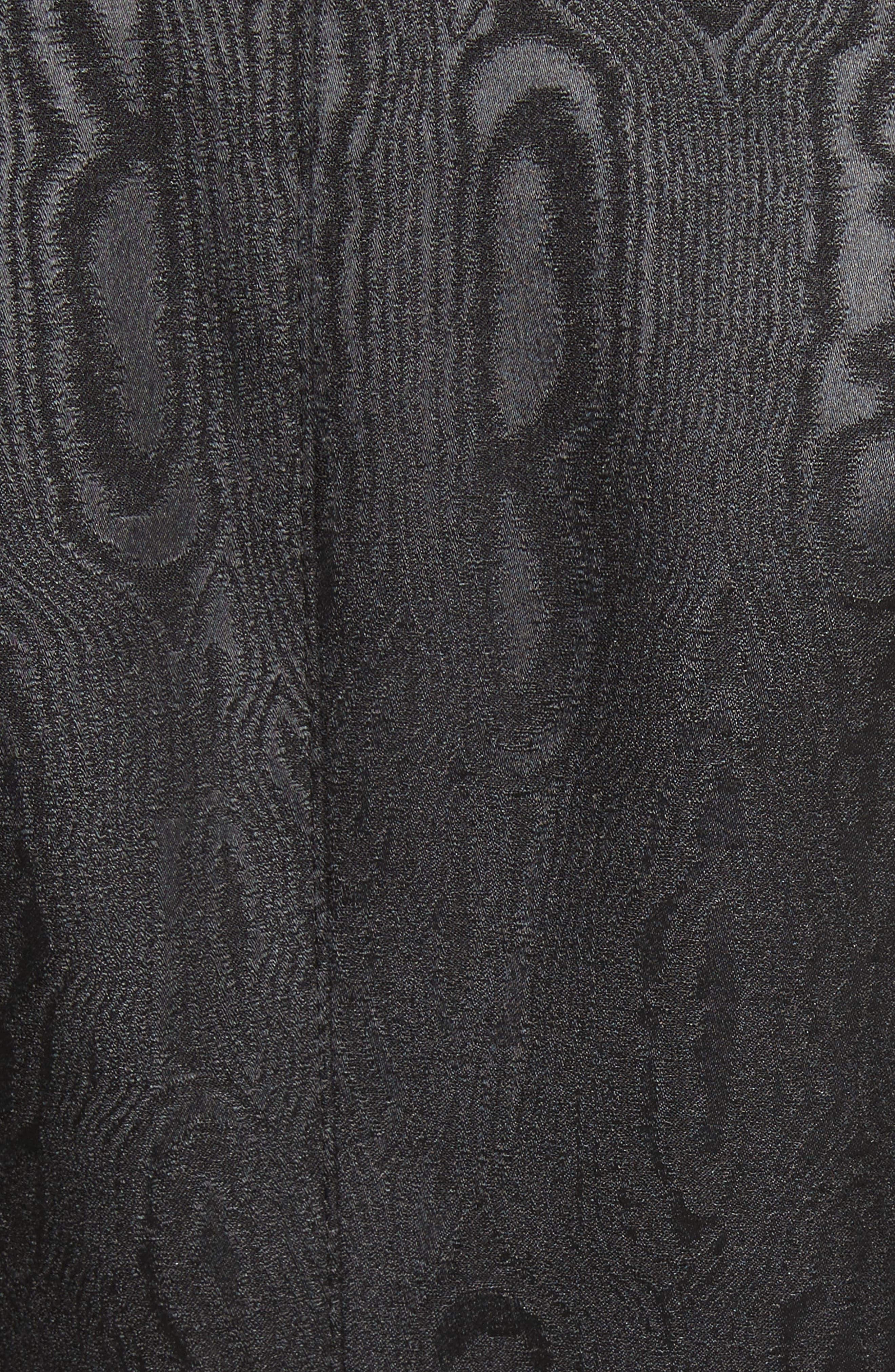 Velvet Trim Moiré Peak Lapel Blazer,                             Alternate thumbnail 6, color,                             009