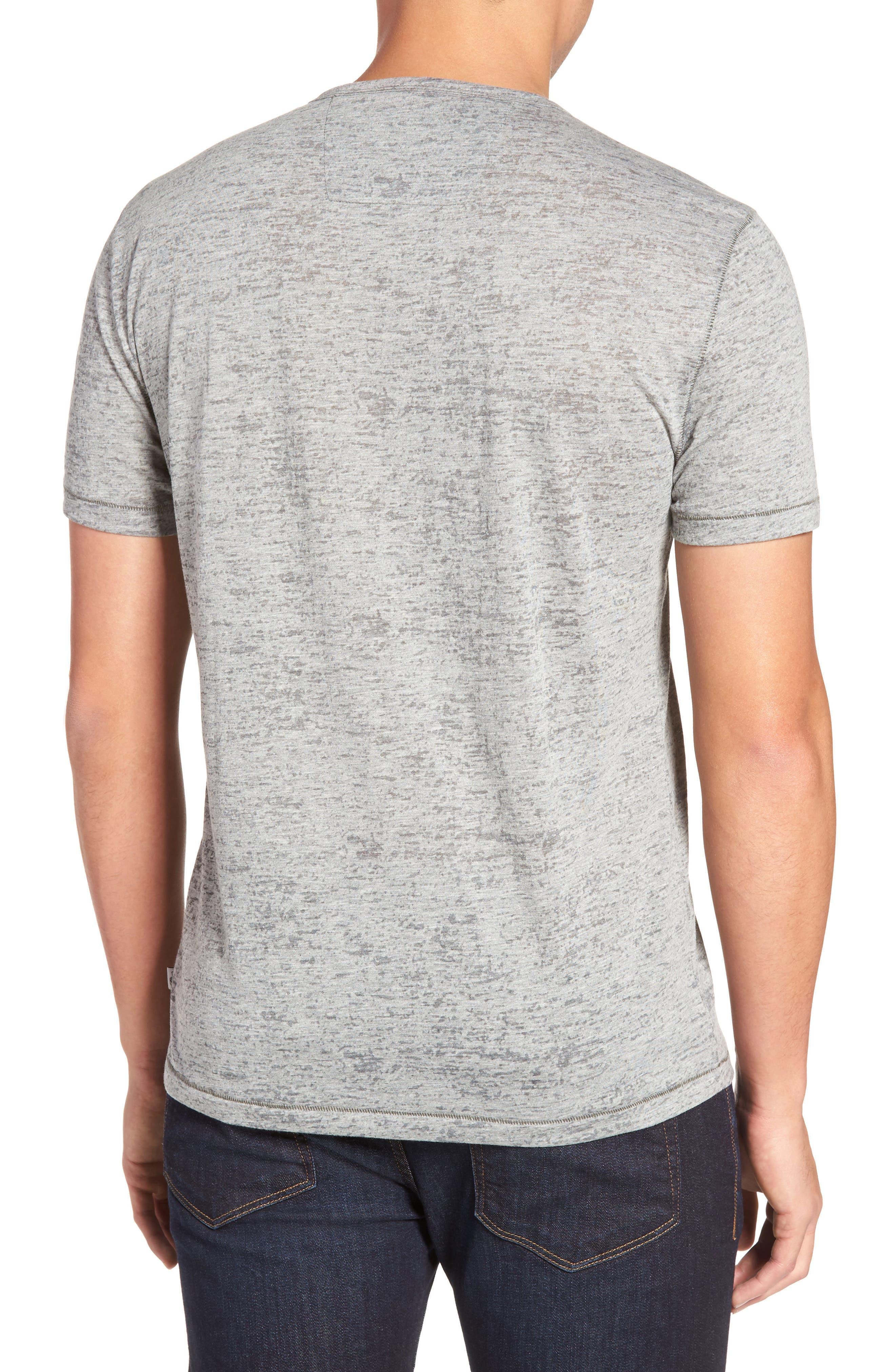 Burnout Trim Fit T-Shirt,                             Alternate thumbnail 2, color,                             LT. GREY HEATHER