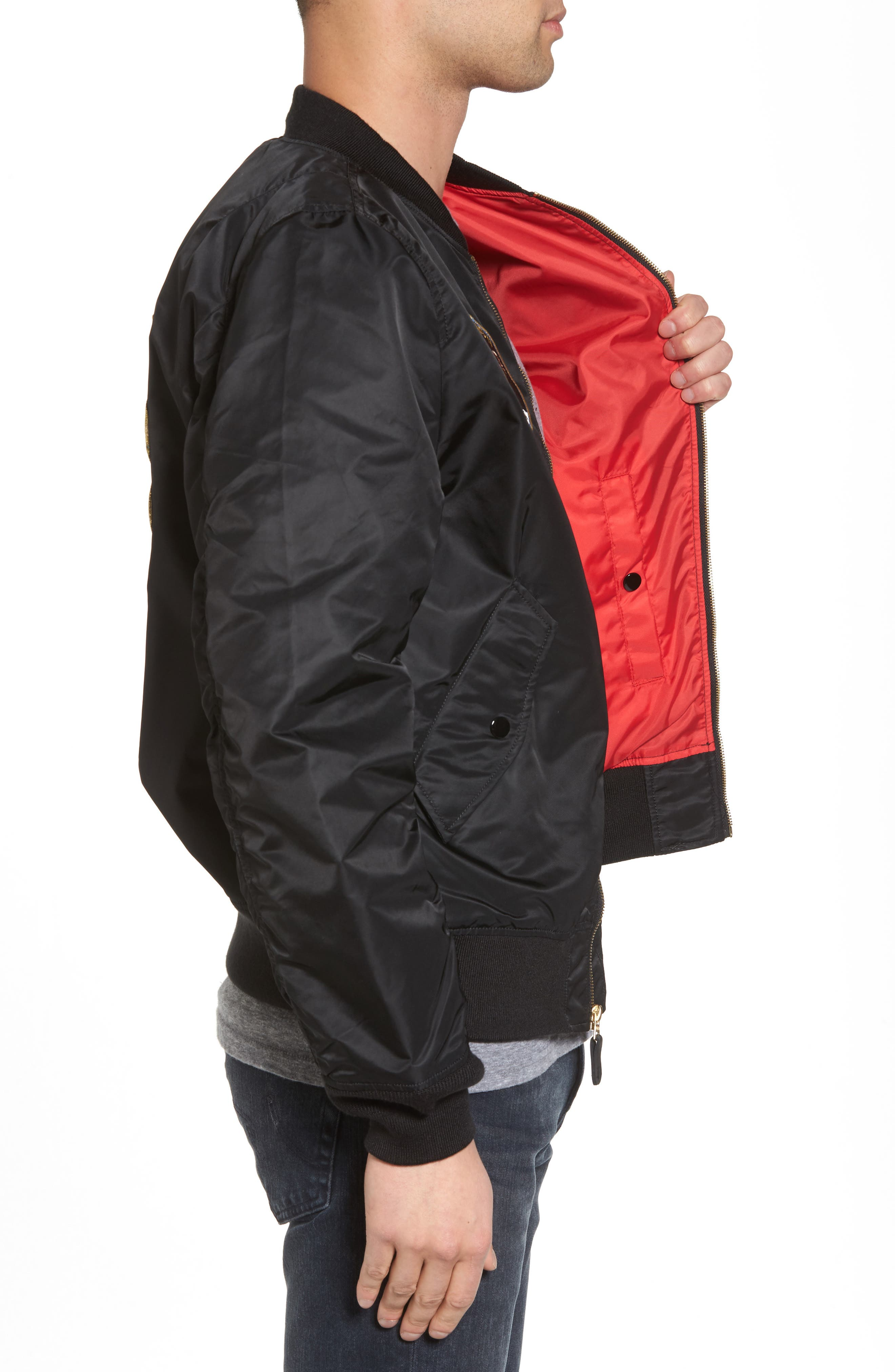 L-2B Apollo Bomber Jacket,                             Alternate thumbnail 3, color,