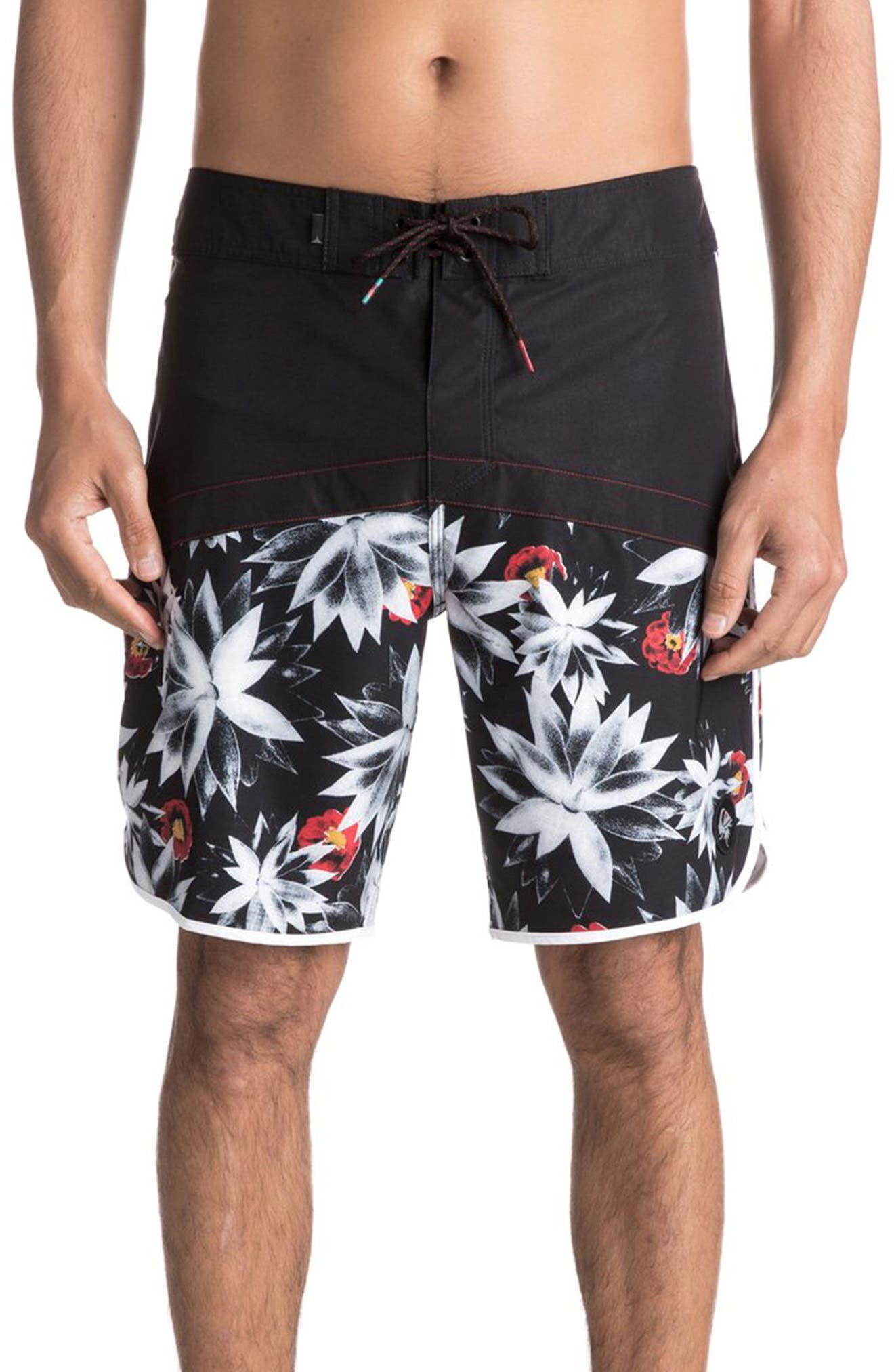 Crypt Scallop Board Shorts,                             Main thumbnail 1, color,                             002