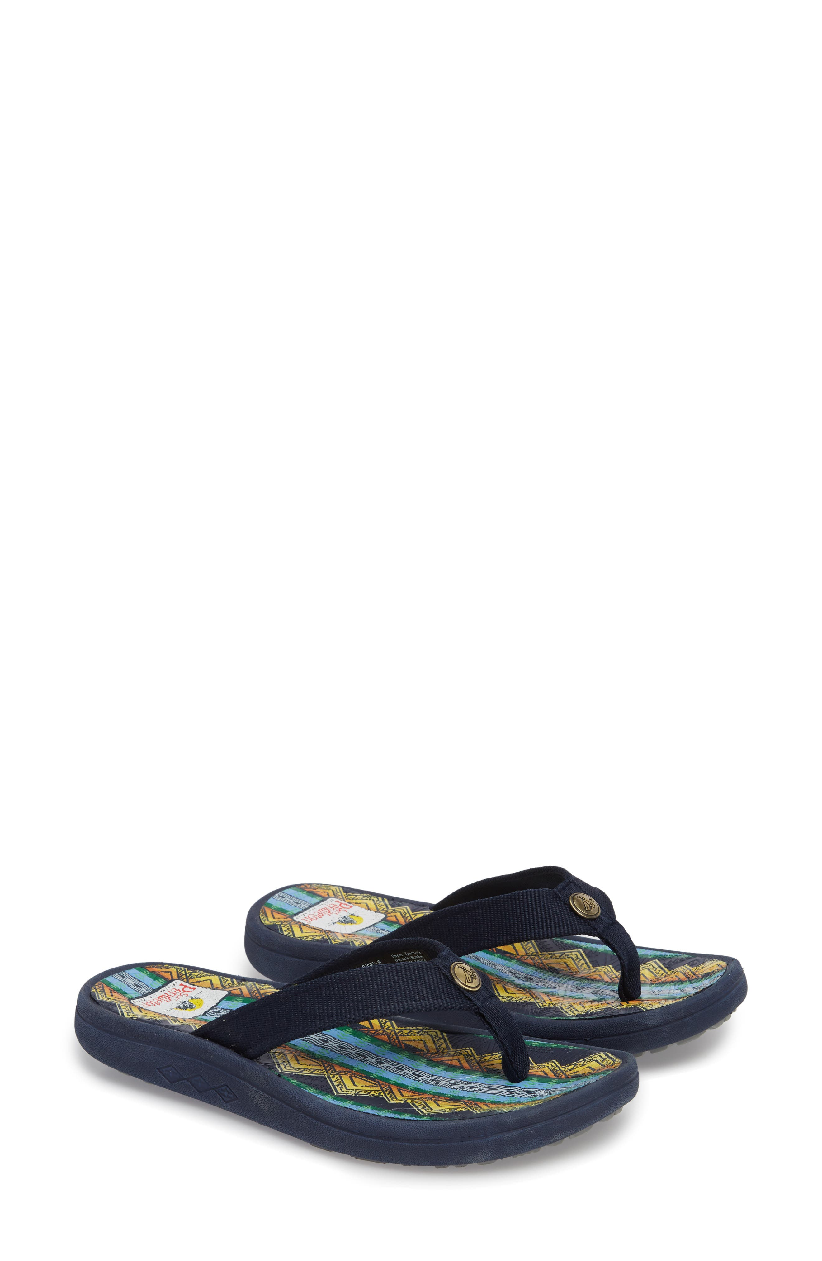 Pendleton American Treasures Flip Flop,                             Alternate thumbnail 2, color,                             NAVY