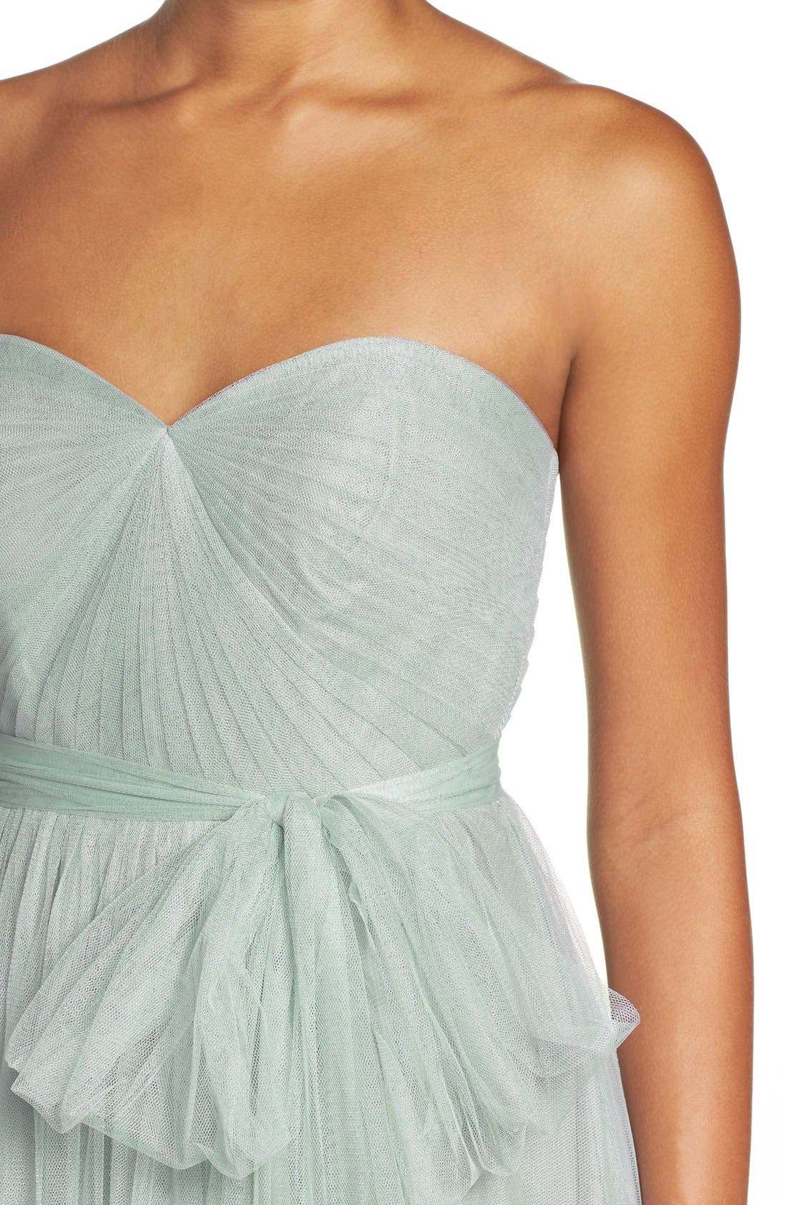 Annabelle Convertible Tulle Column Dress,                             Alternate thumbnail 131, color,