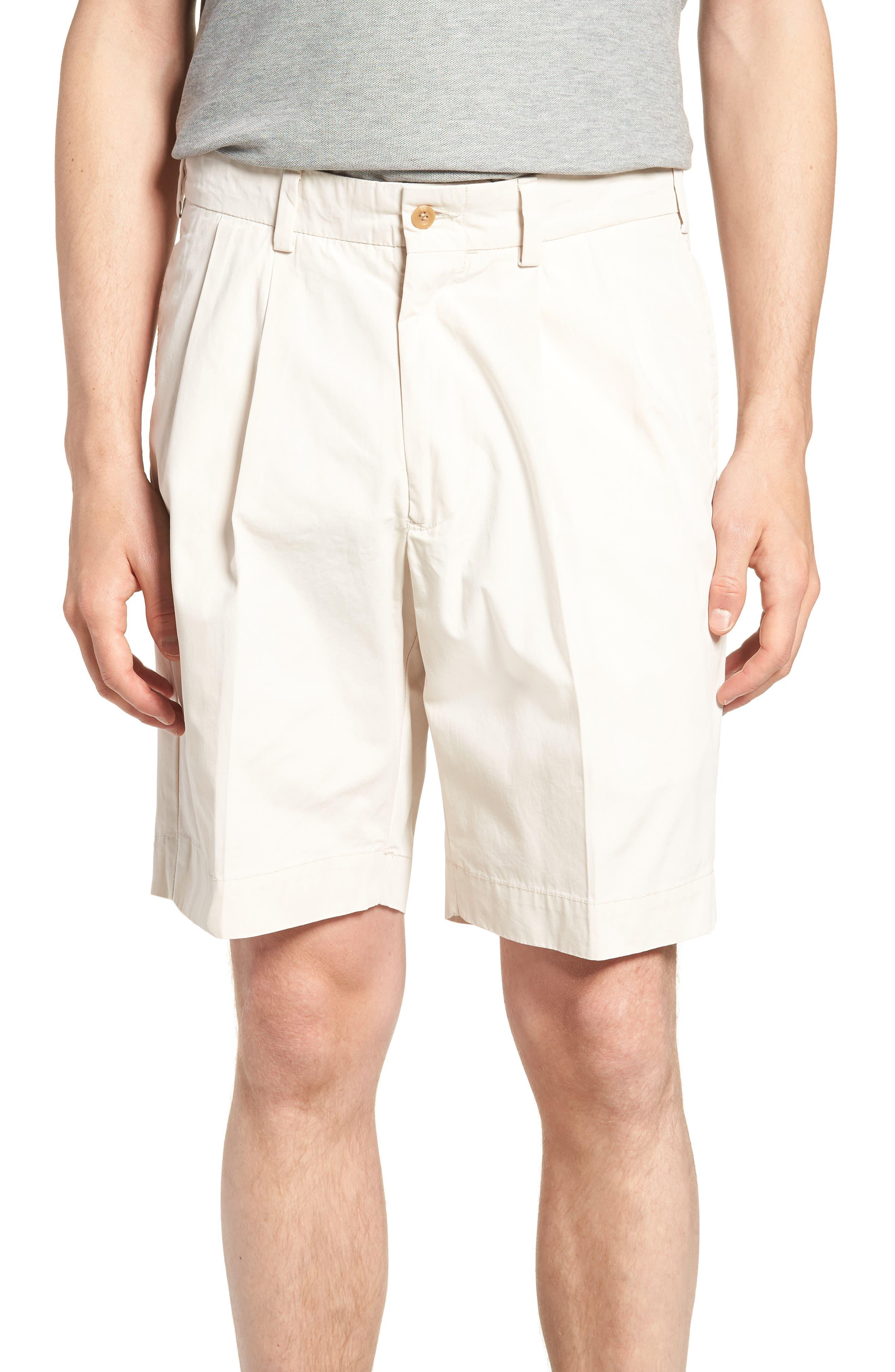 M2 Classic Fit Pleated Tropical Cotton Poplin Shorts,                             Main thumbnail 1, color,                             280