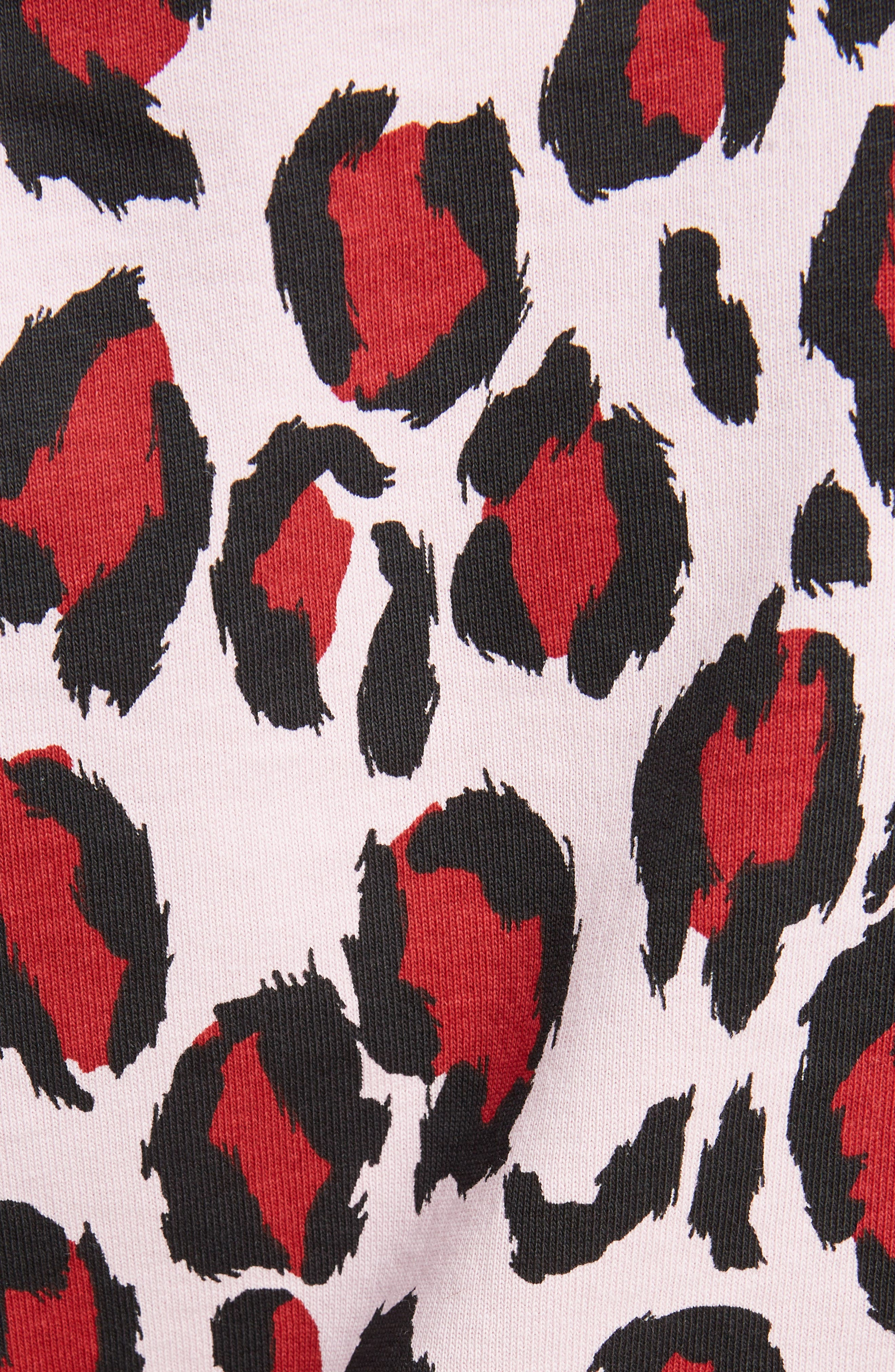 Leopard Print Tee,                             Alternate thumbnail 5, color,                             JERSEY PASTEL PINK