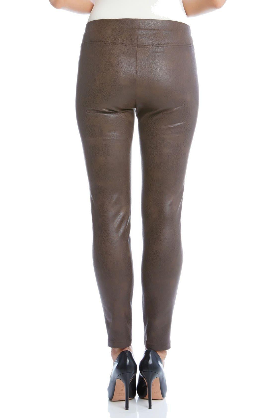 Karen Karen Stretch Faux Leather Skinny Pants,                             Alternate thumbnail 2, color,                             200