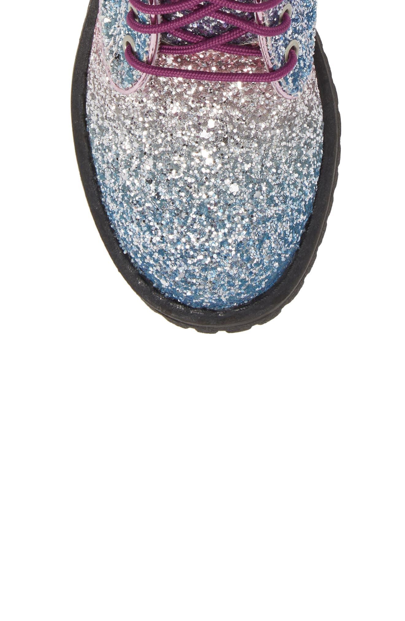 SAM EDELMAN,                             Polly Sophia Glitter Combat Boot,                             Alternate thumbnail 5, color,                             506