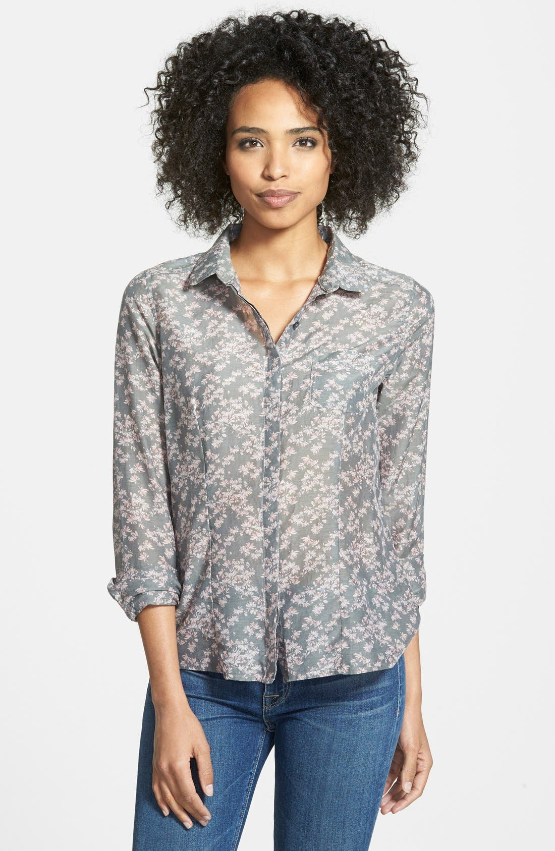Cotton & Silk Shirt,                             Main thumbnail 8, color,