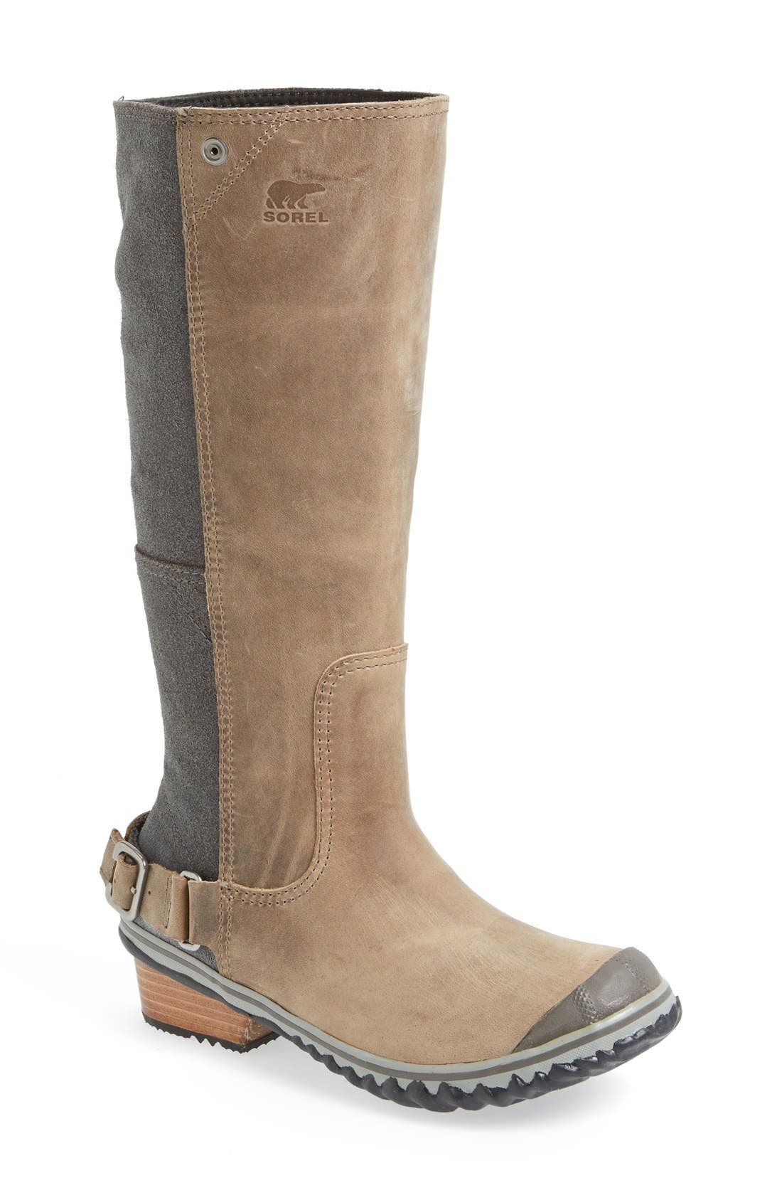 'Slim' Waterproof Tall Boot, Main, color, 008