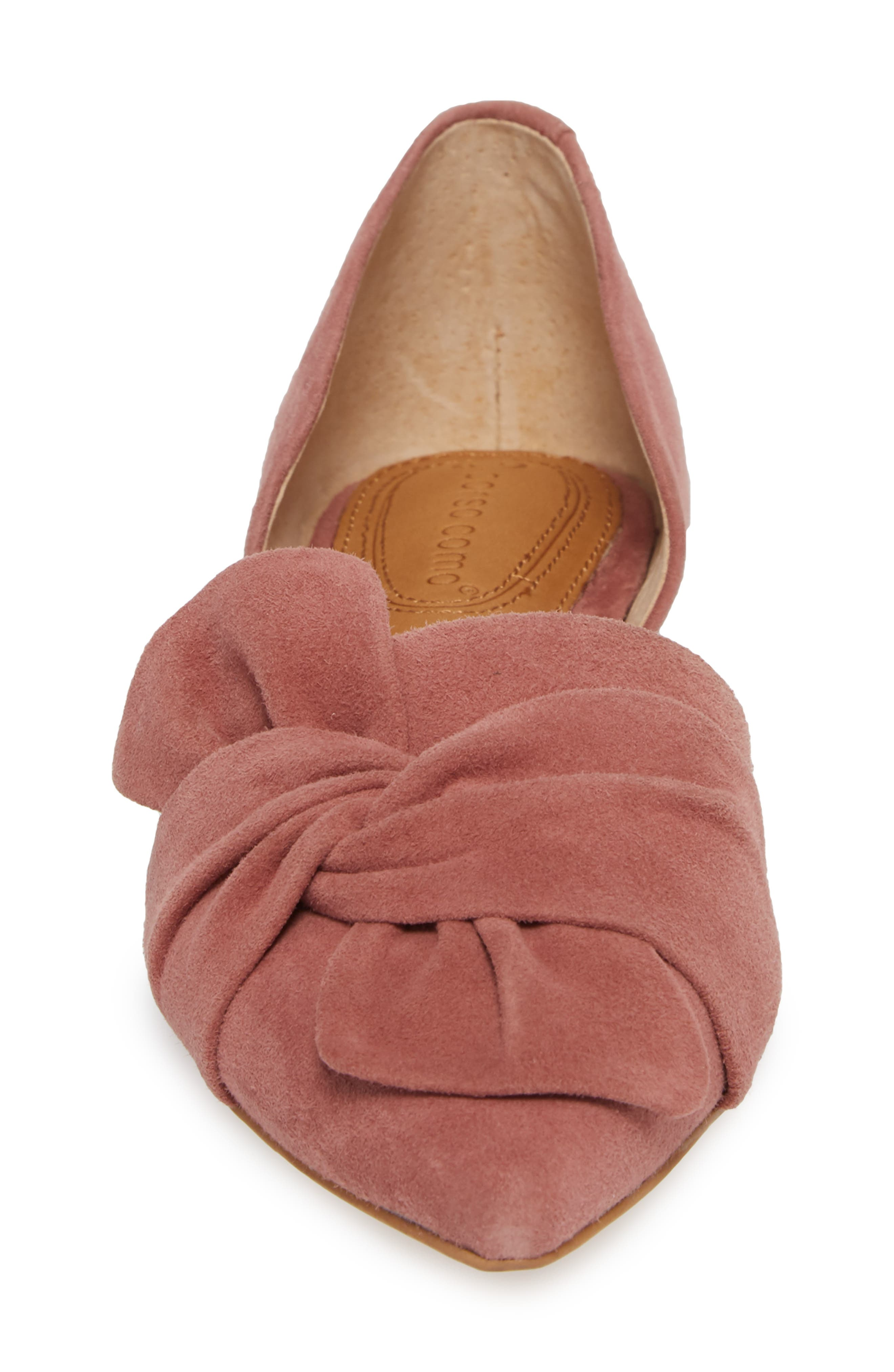 Mollie d'Orsay Flat,                             Alternate thumbnail 4, color,                             OLD ROSE SUEDE
