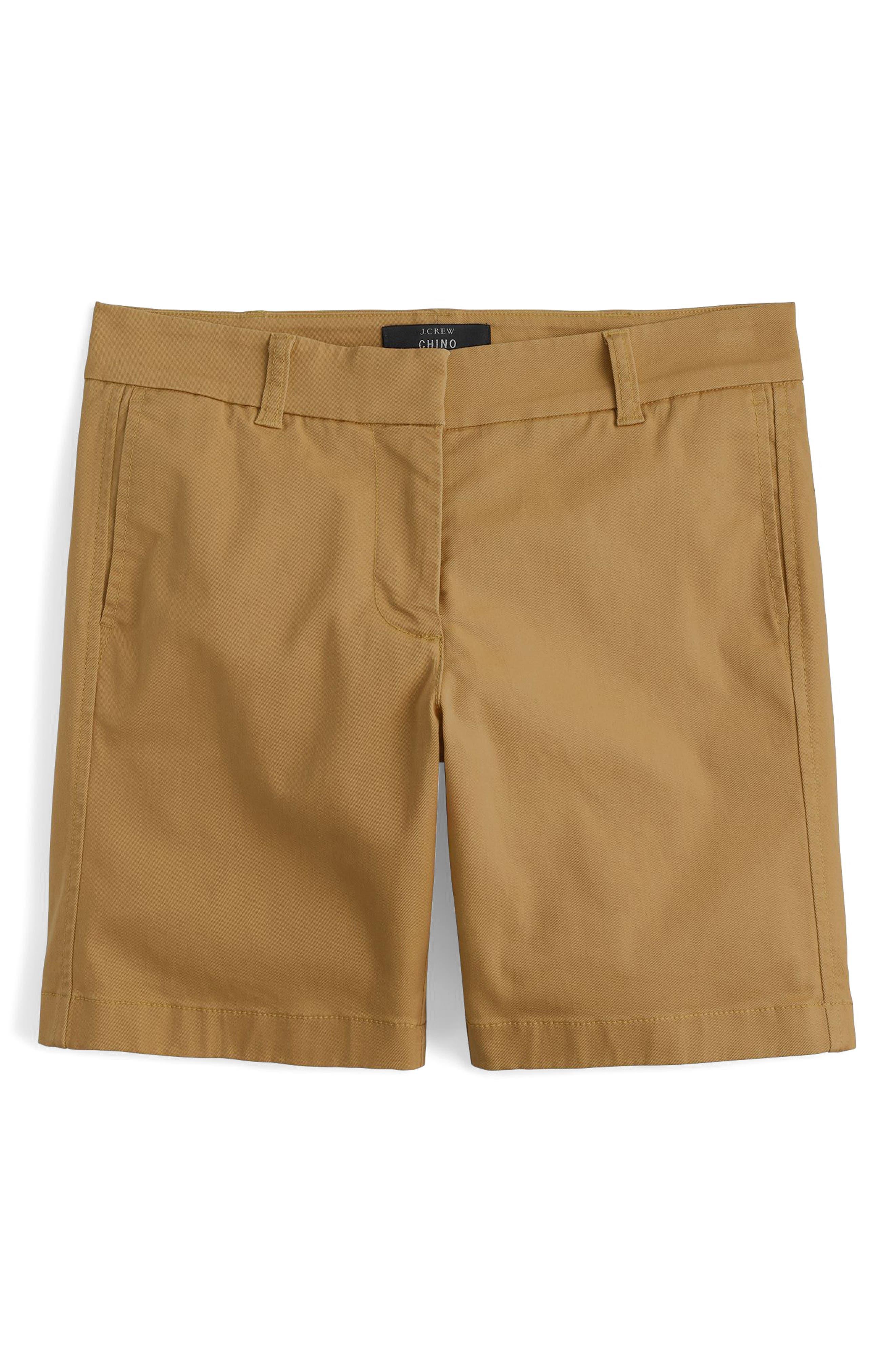 Stretch Cotton Chino Shorts,                             Main thumbnail 3, color,