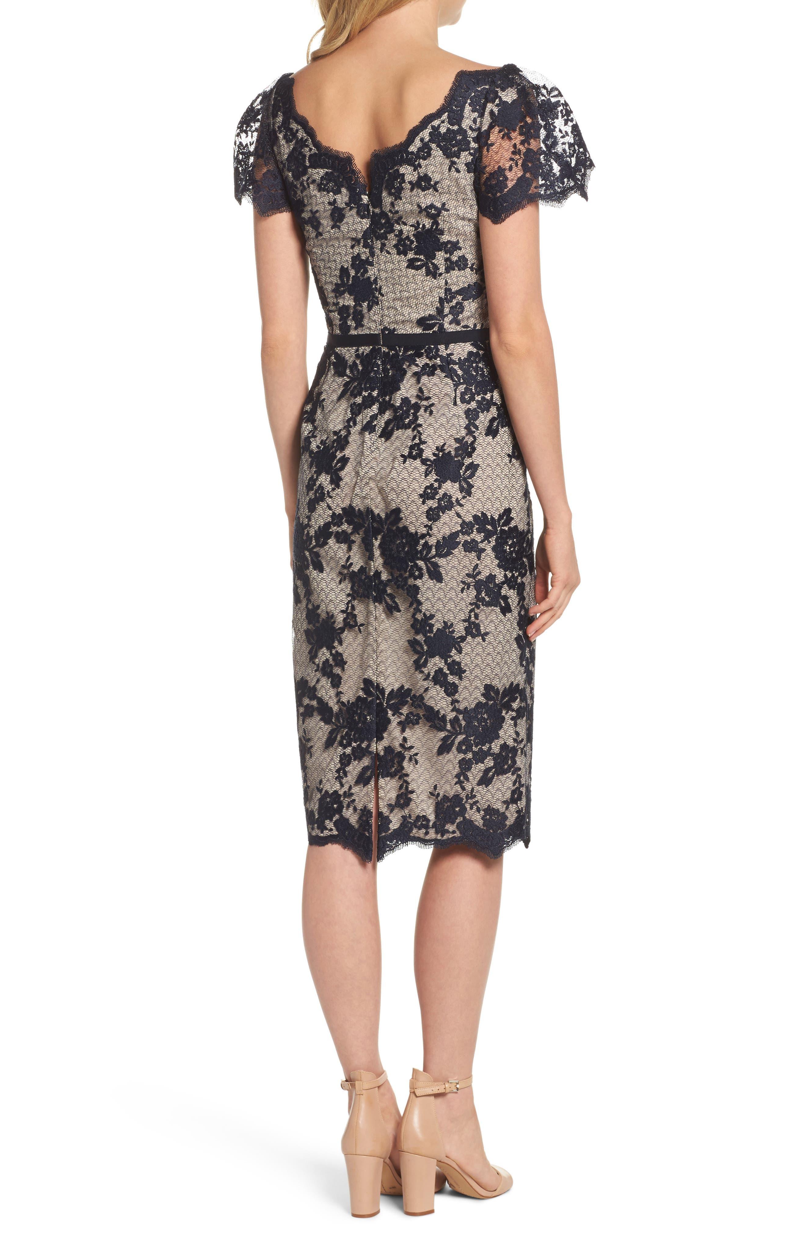 Lace Sheath Dress,                             Alternate thumbnail 2, color,                             402