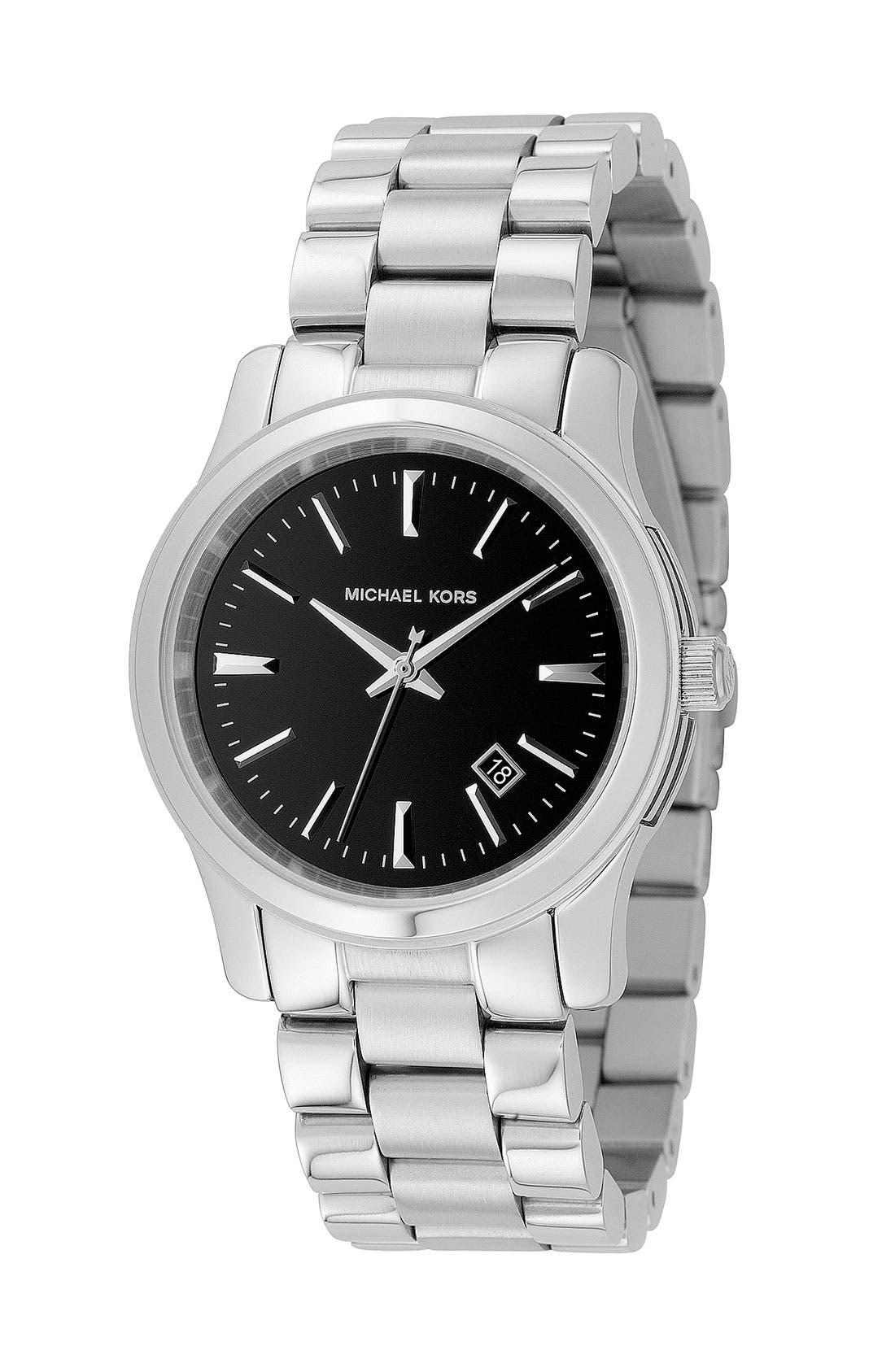 MICHAEL MICHAEL KORS Michael Kors 'Jet Set Sport' Watch, 38mm, Main, color, 001