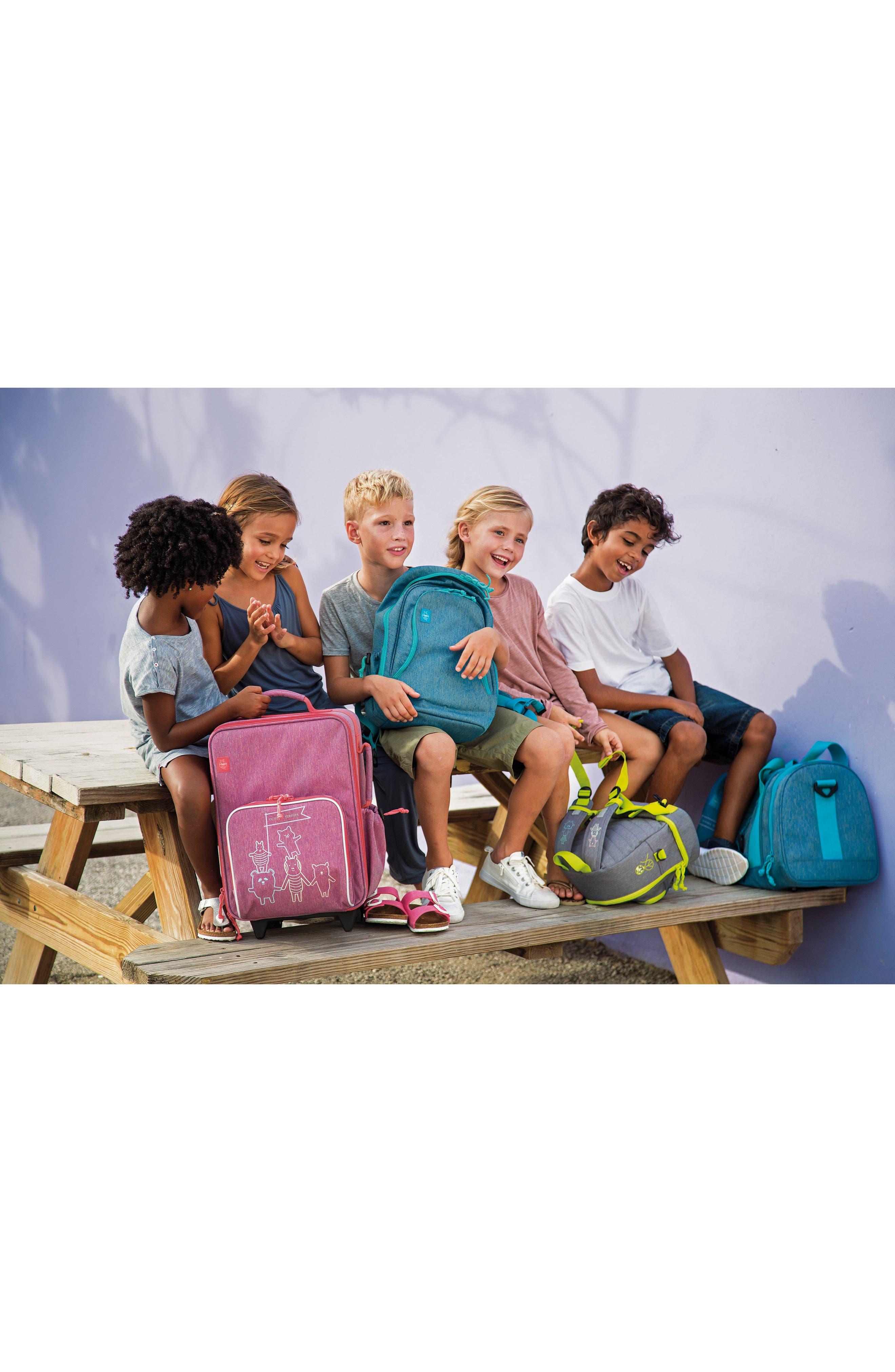About Friends Rolling Suitcase,                             Alternate thumbnail 4, color,                             MELANGE PINK