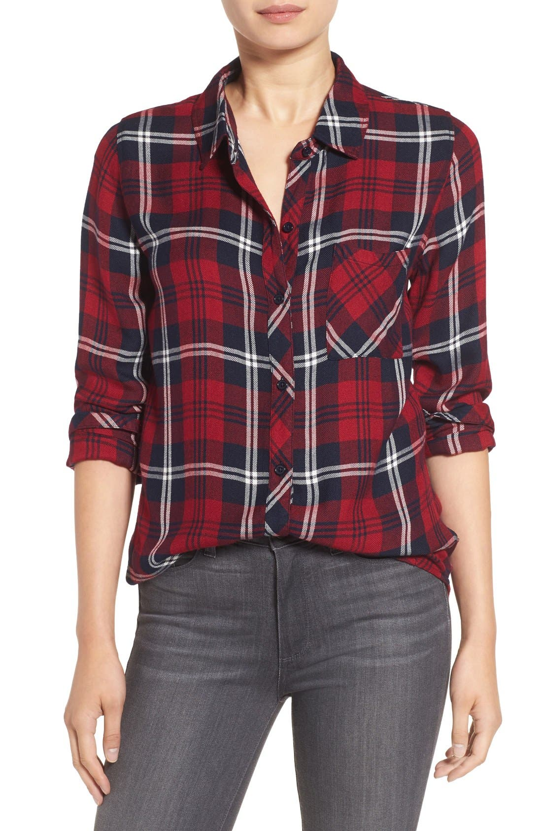 Hunter Plaid Shirt,                             Main thumbnail 128, color,