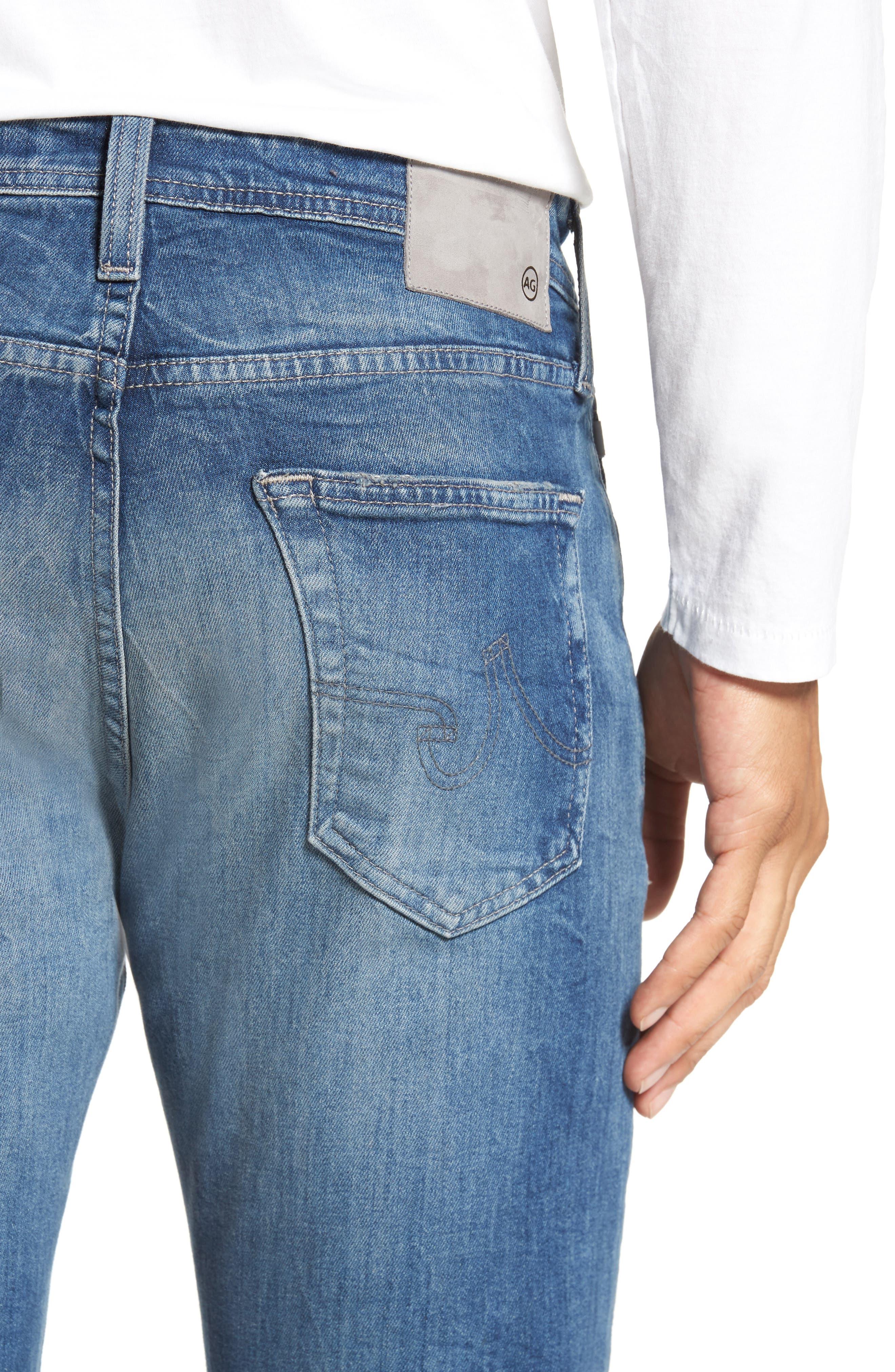 Everett Slim Straight Leg Jeans,                             Alternate thumbnail 4, color,                             429