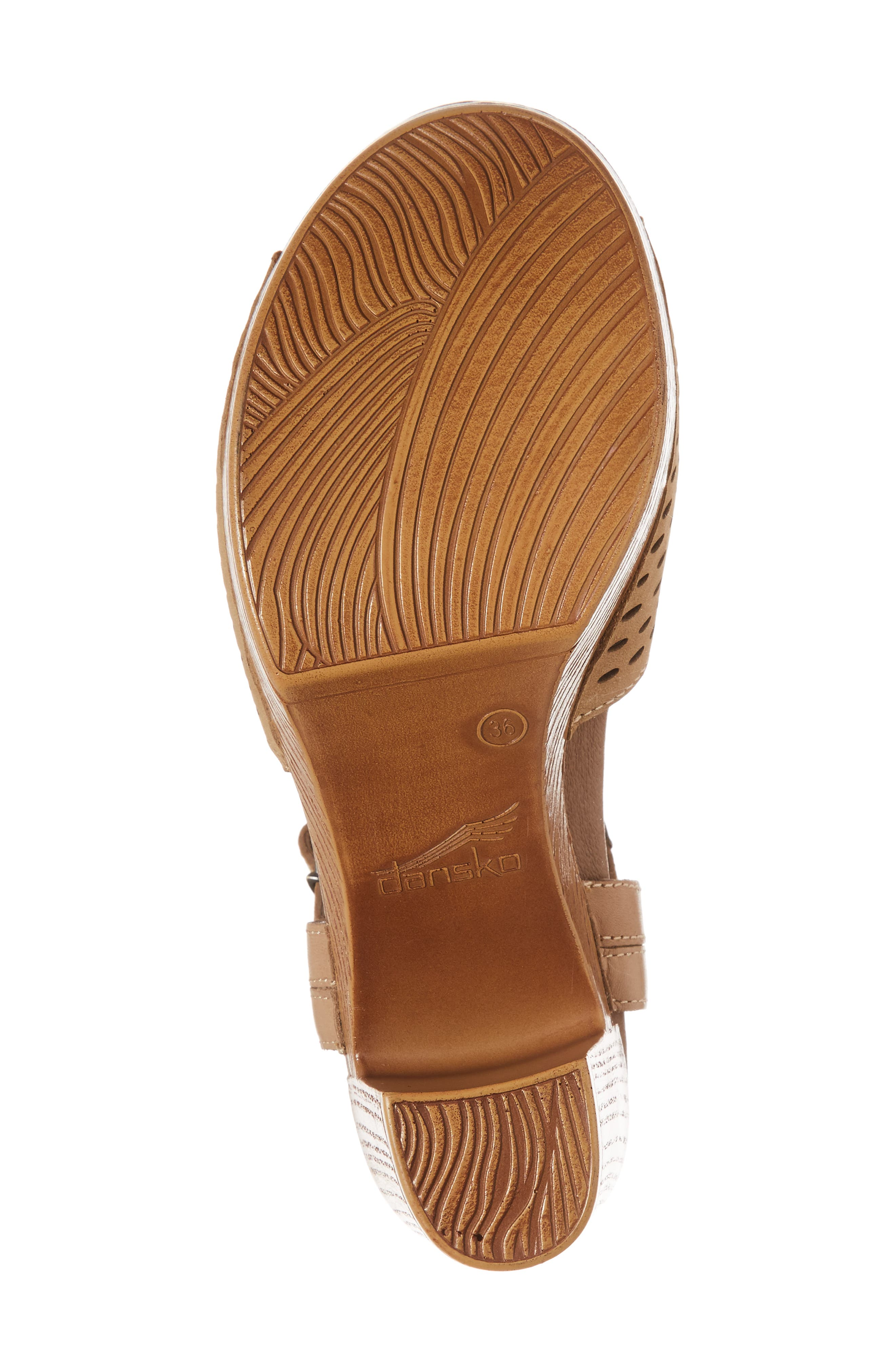 Denita Block Heel Sandal,                             Alternate thumbnail 6, color,                             SAND MILLED NUBUCK