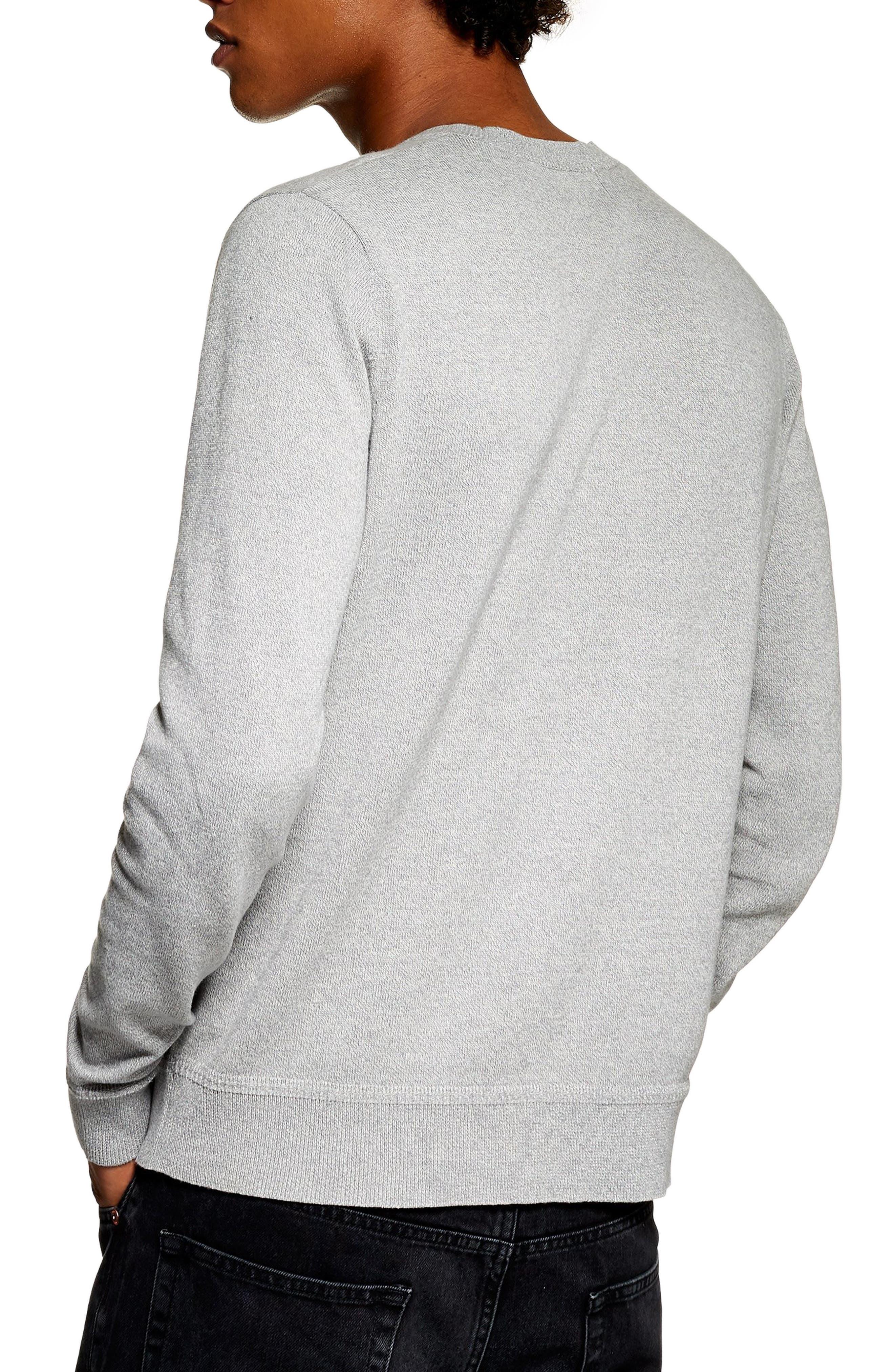 Marl Crewneck Sweater,                             Alternate thumbnail 2, color,                             CREAM