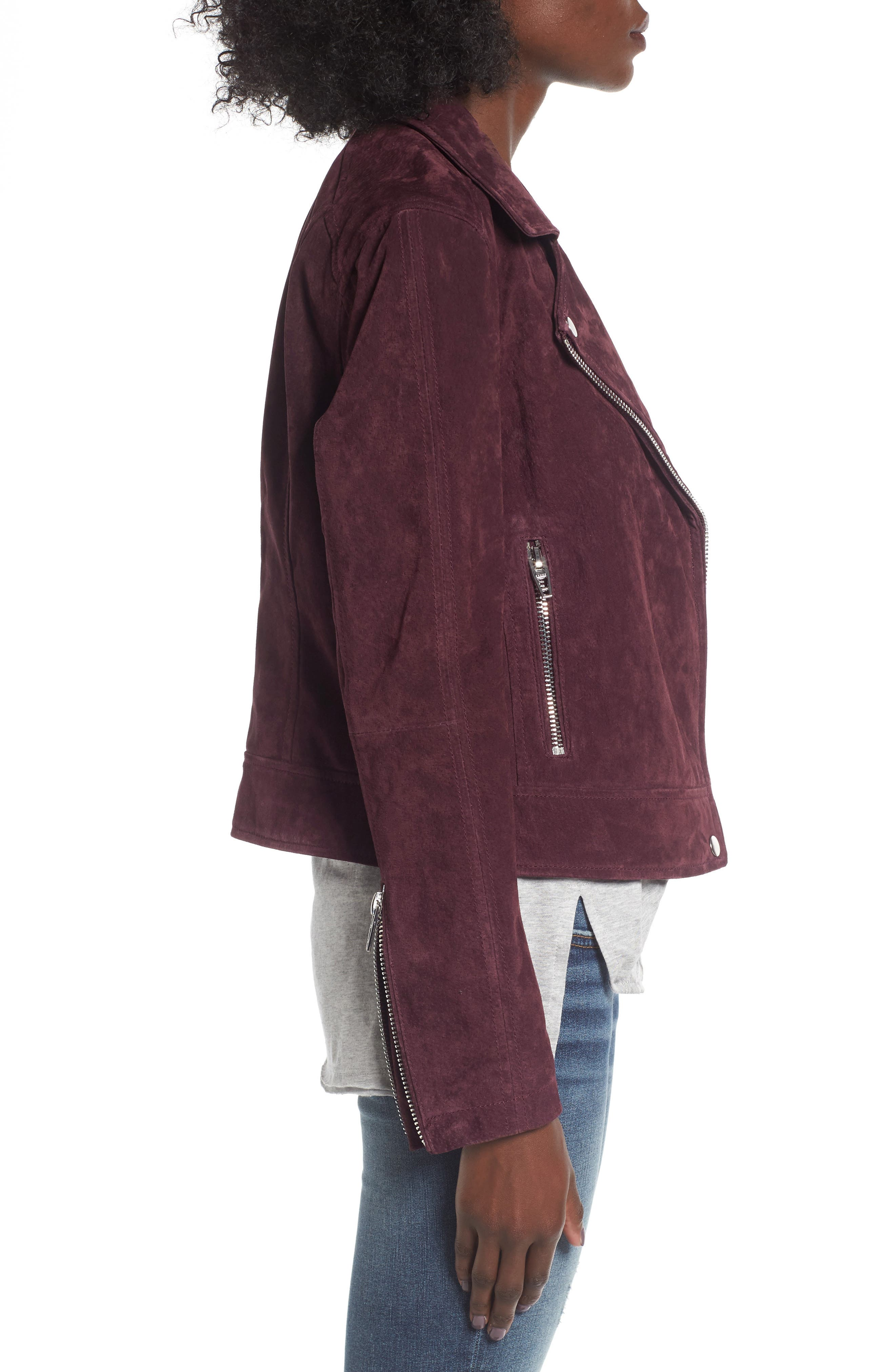 Suede Moto Jacket,                             Alternate thumbnail 27, color,