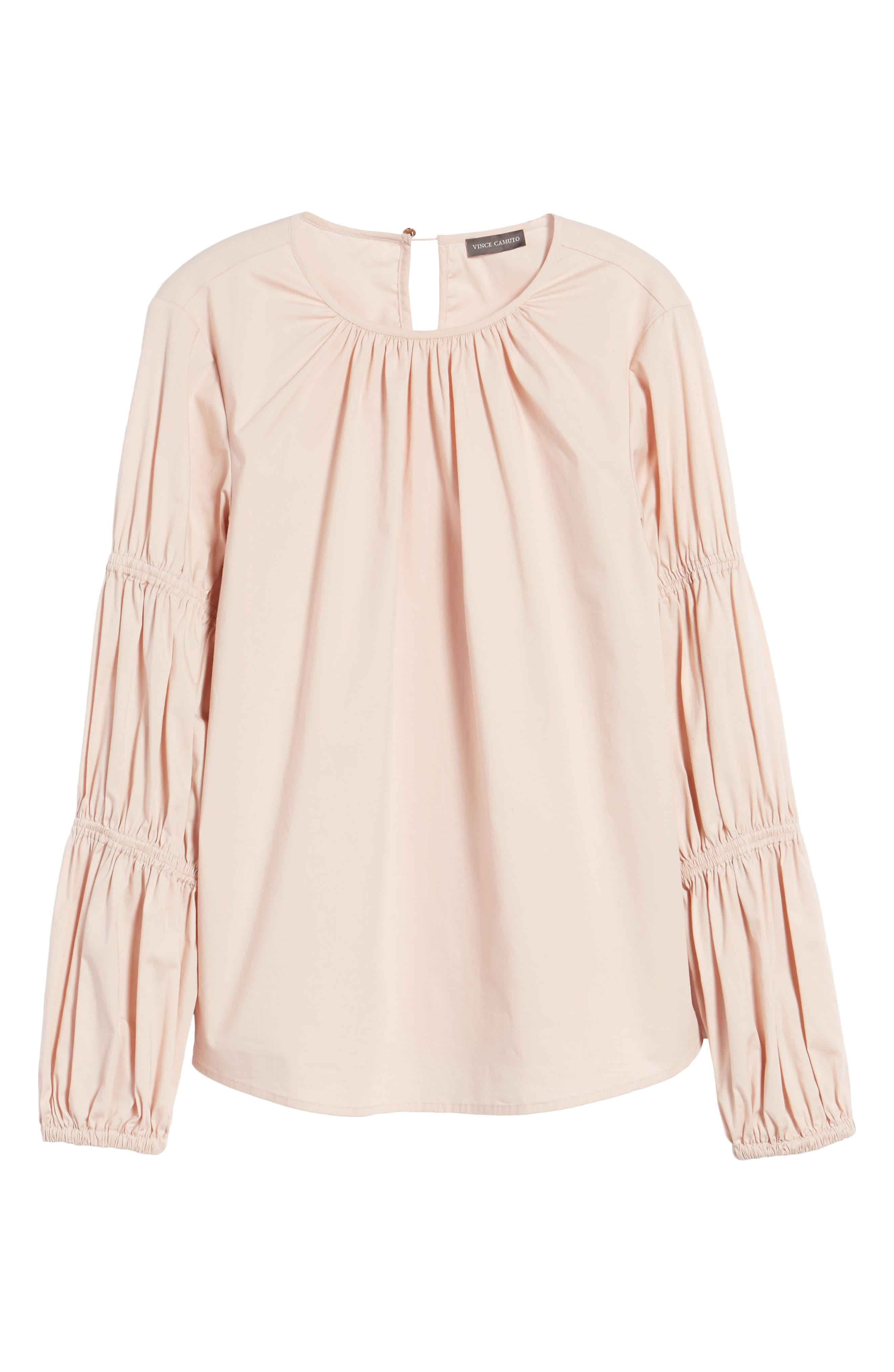Smocked Poplin Shirt,                             Alternate thumbnail 10, color,
