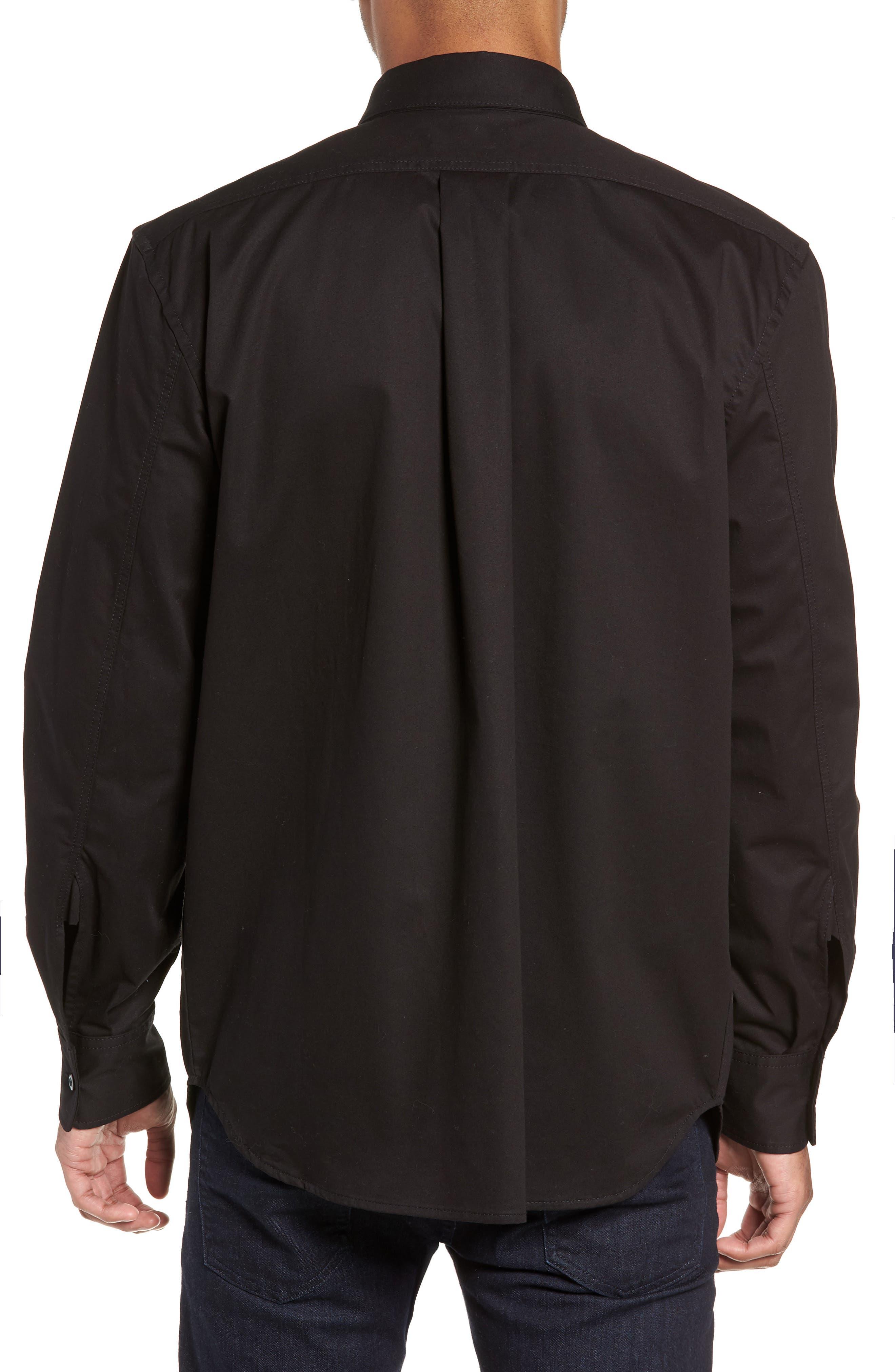 Utility Sport Shirt,                             Alternate thumbnail 3, color,                             BLACK