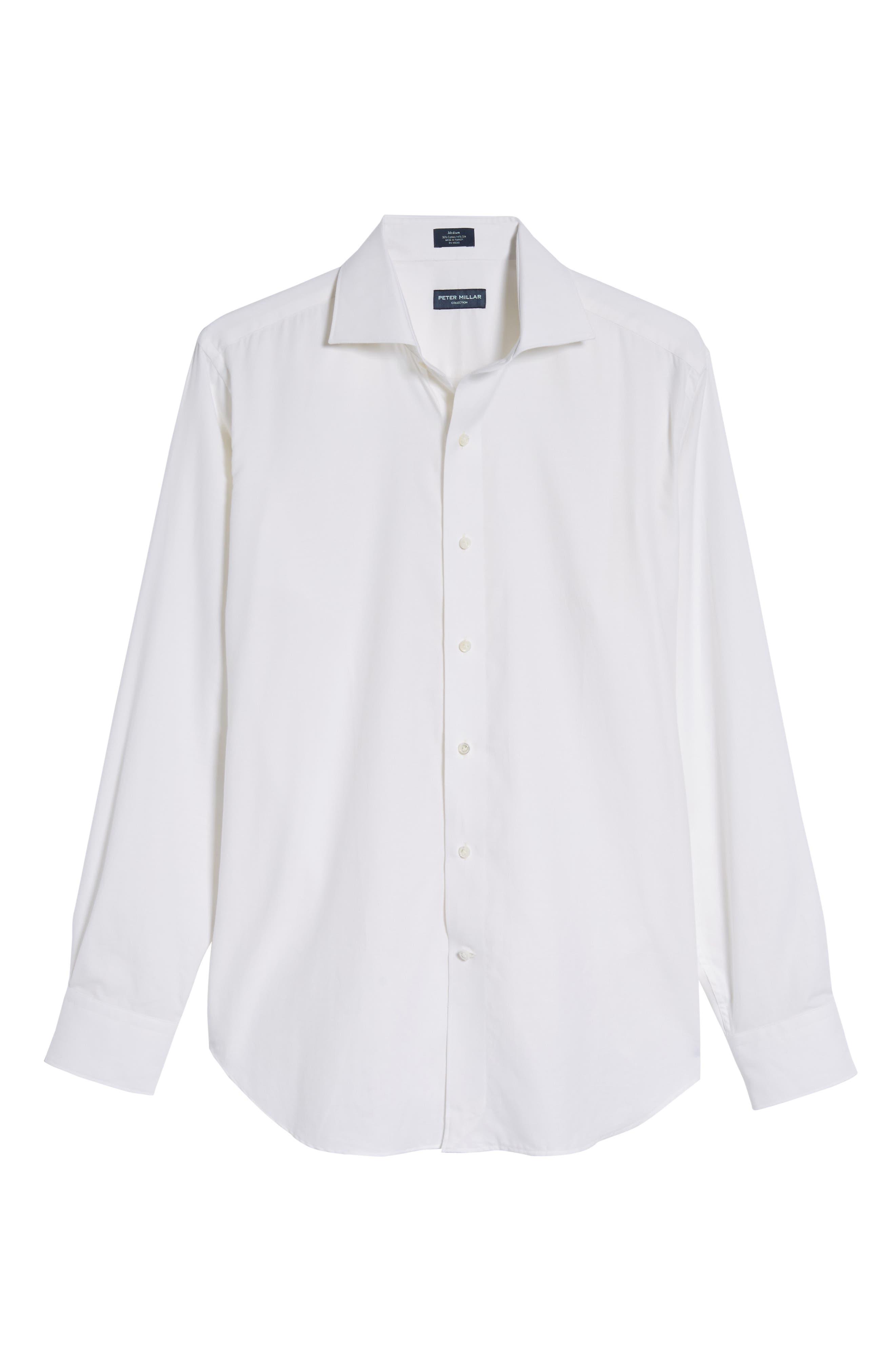 Silky Touch Herringbone Sport Shirt,                             Alternate thumbnail 6, color,                             100