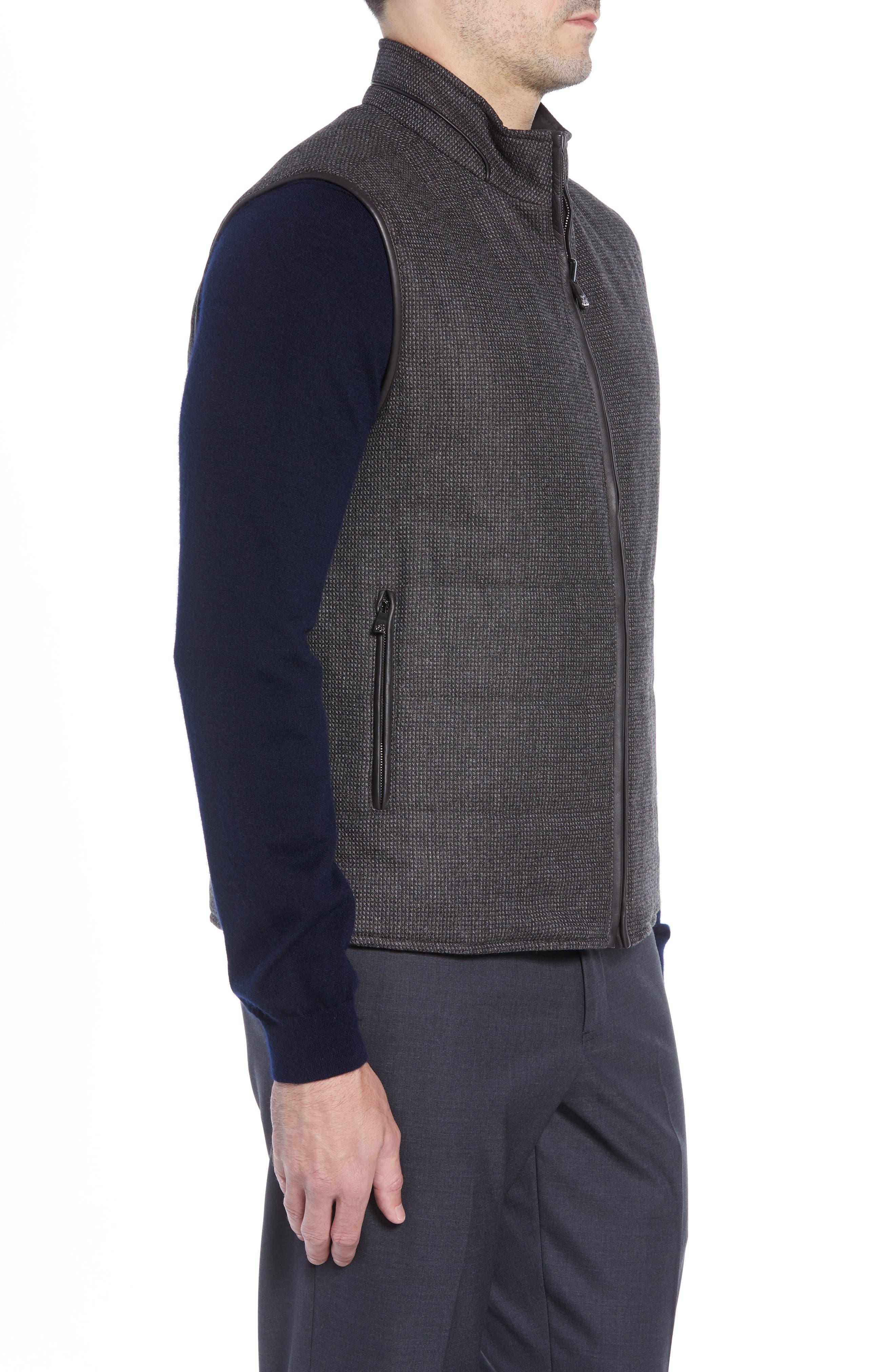 Classic Fit Reversible Vest,                             Alternate thumbnail 4, color,                             BROWN