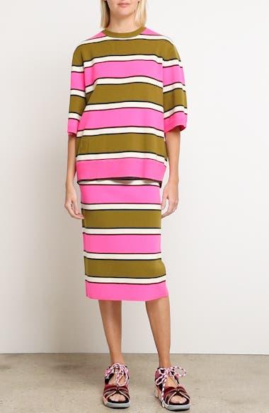 Oversize Stripe Cashmere Sweater, video thumbnail