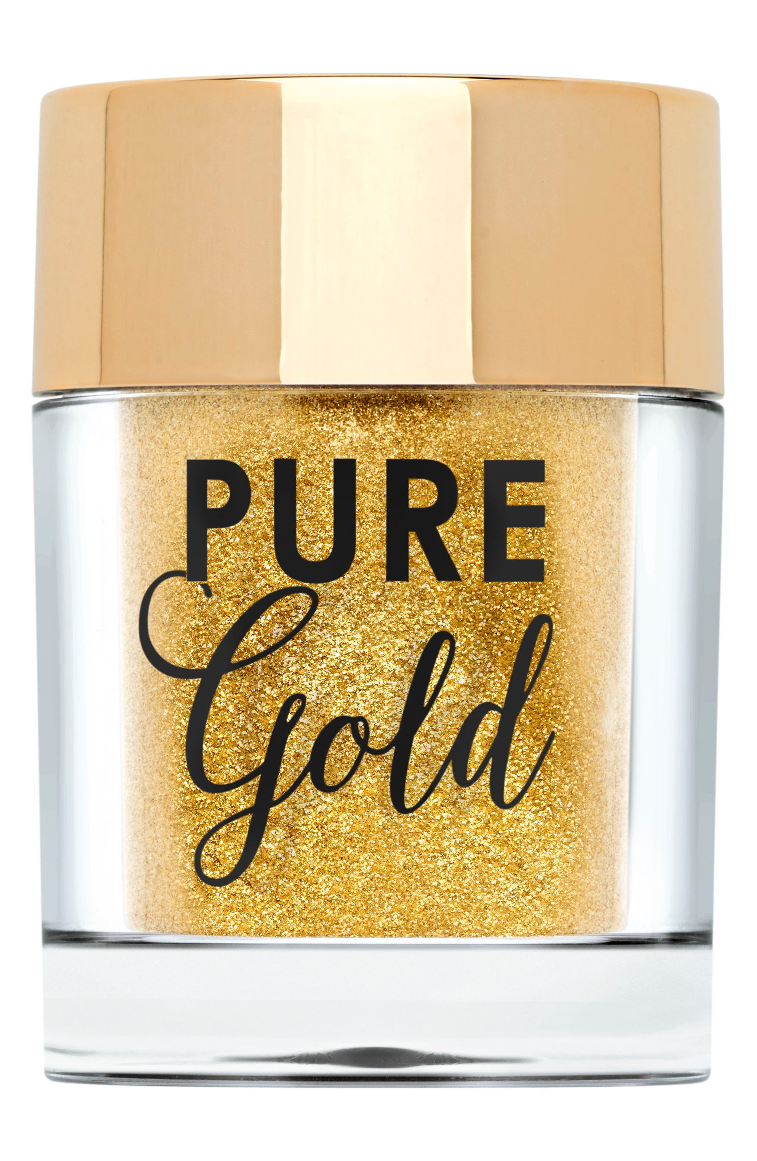 TOO FACED,                             Pure Gold Ultra-Fine Face & Body Glitter,                             Main thumbnail 1, color,                             710