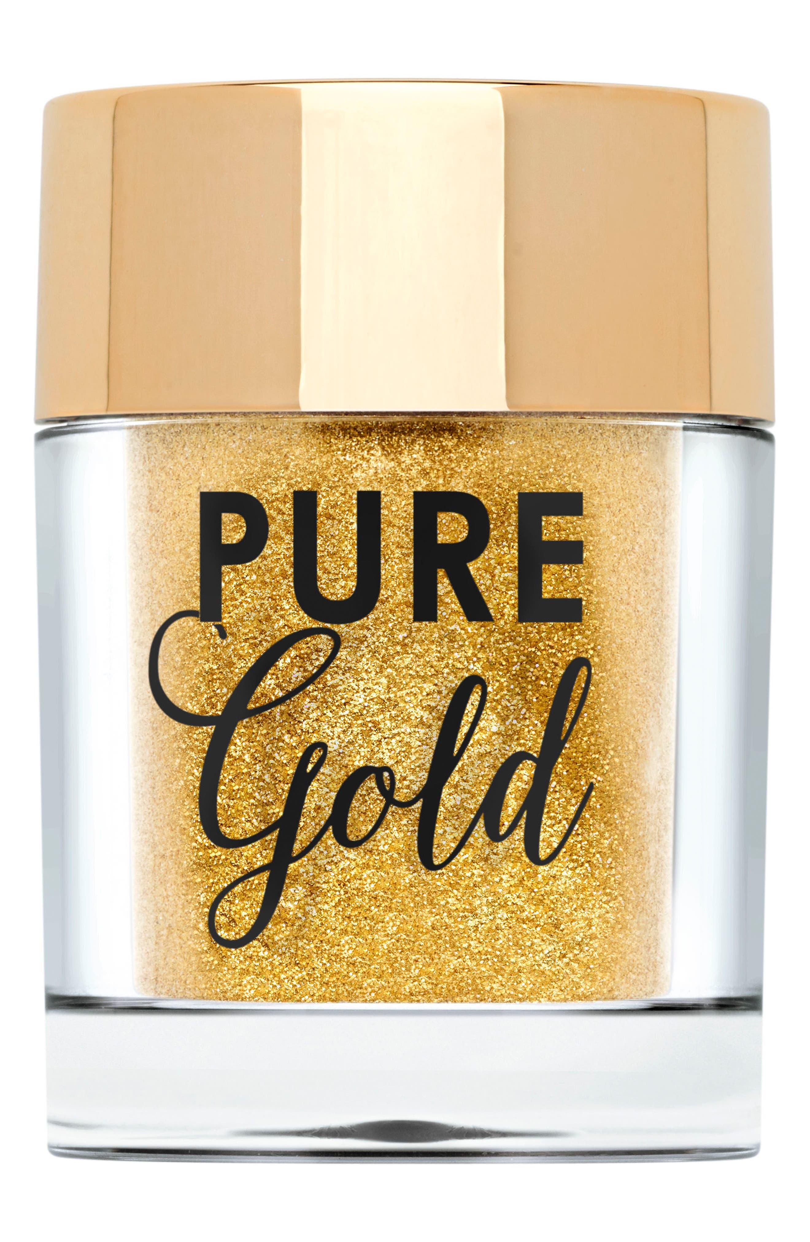 TOO FACED Pure Gold Ultra-Fine Face & Body Glitter, Main, color, 710