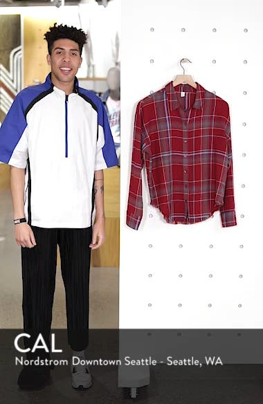 Frayed Edge Plaid Shirt, sales video thumbnail