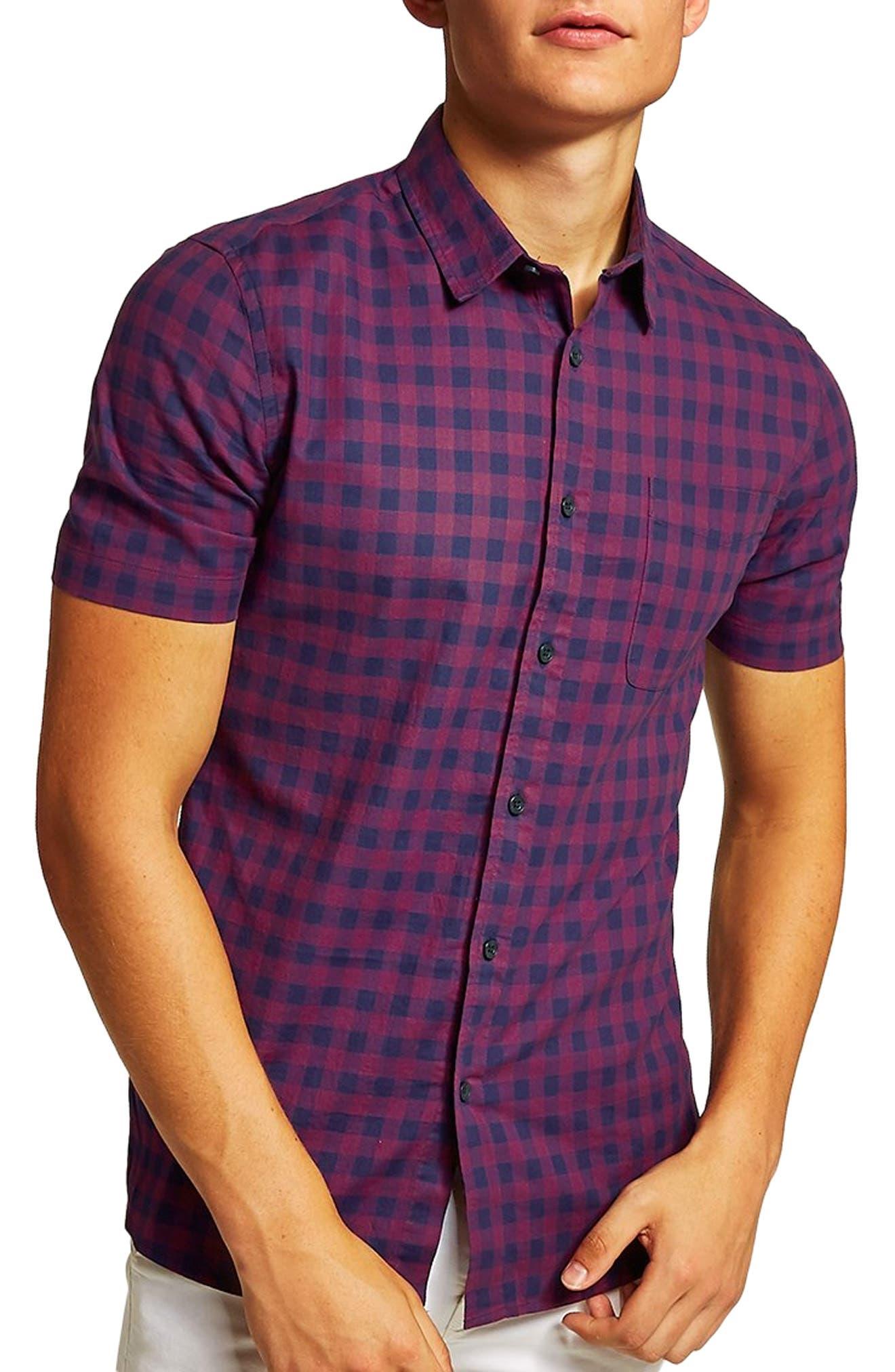 Gingham Shirt,                         Main,                         color, 400