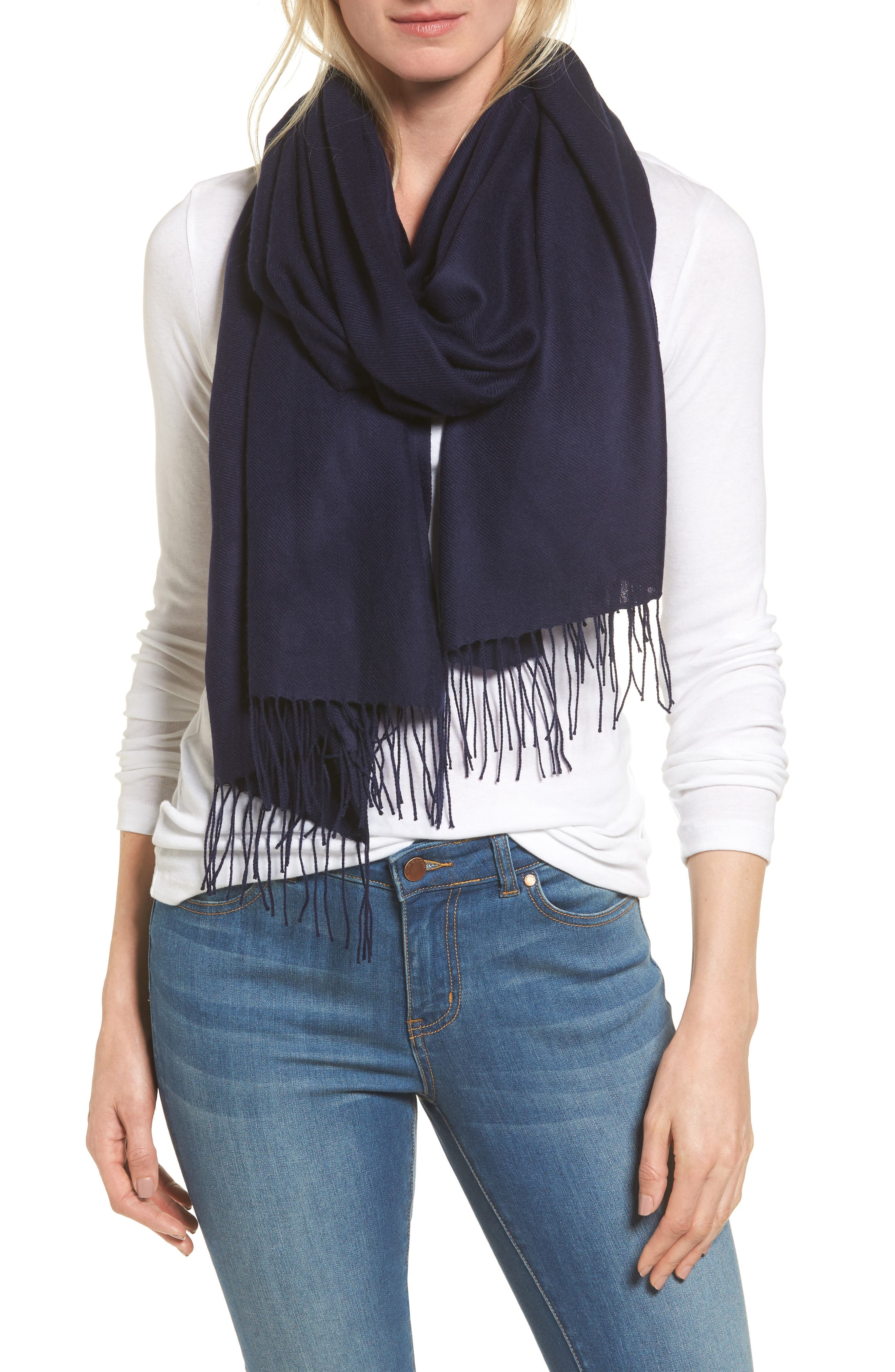 Tissue Weight Wool & Cashmere Scarf,                             Main thumbnail 27, color,