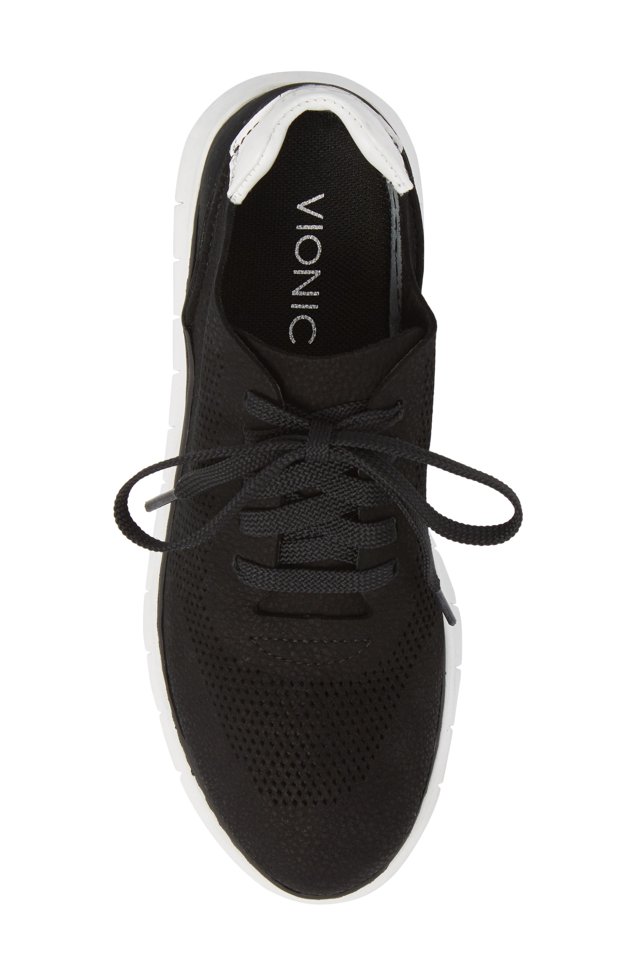 Joey Sneaker,                             Alternate thumbnail 5, color,                             BLACK NUBUCK LEATHER