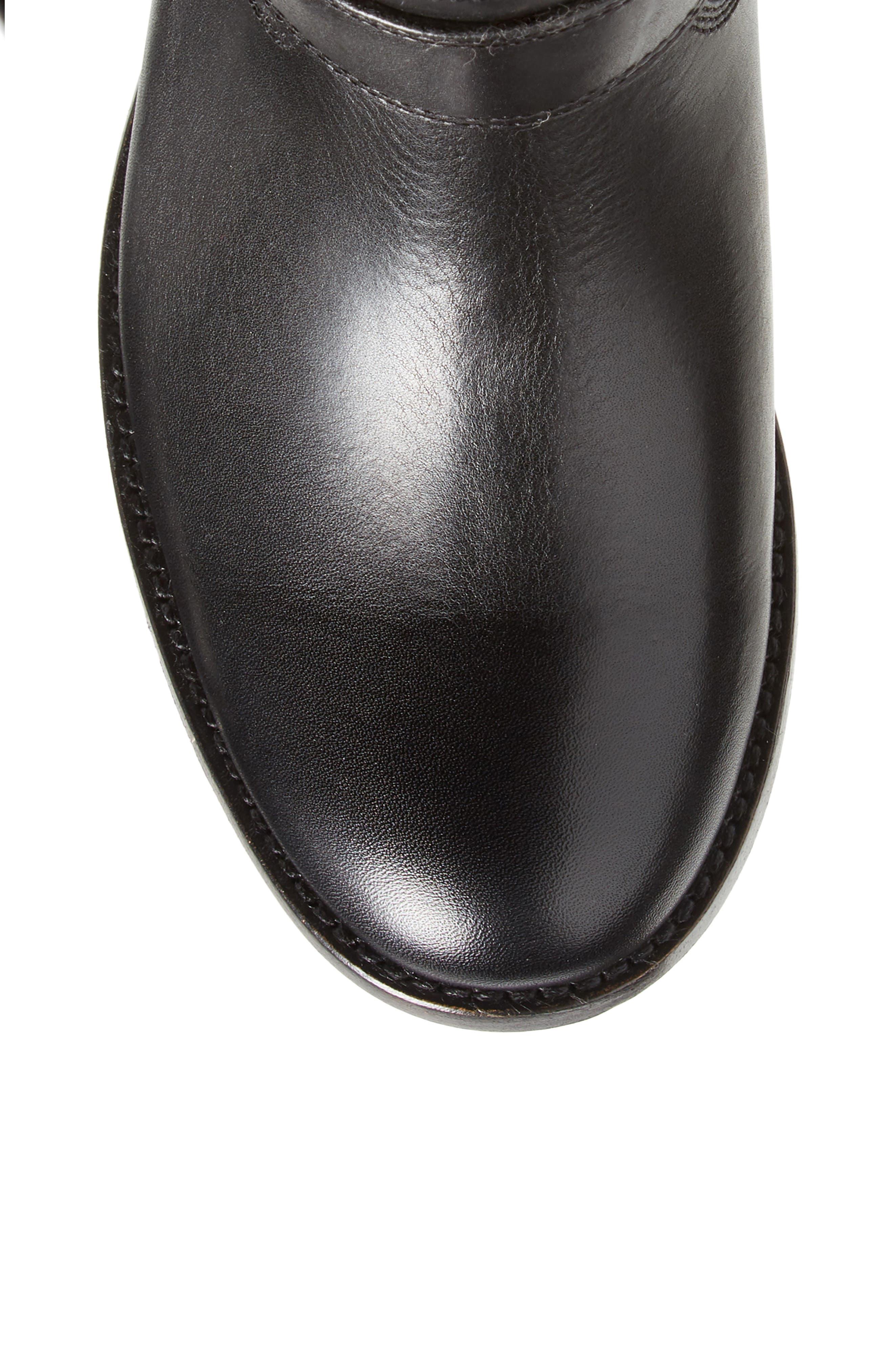 Melissa Knee High Boot,                             Alternate thumbnail 5, color,                             BLACK LEATHER