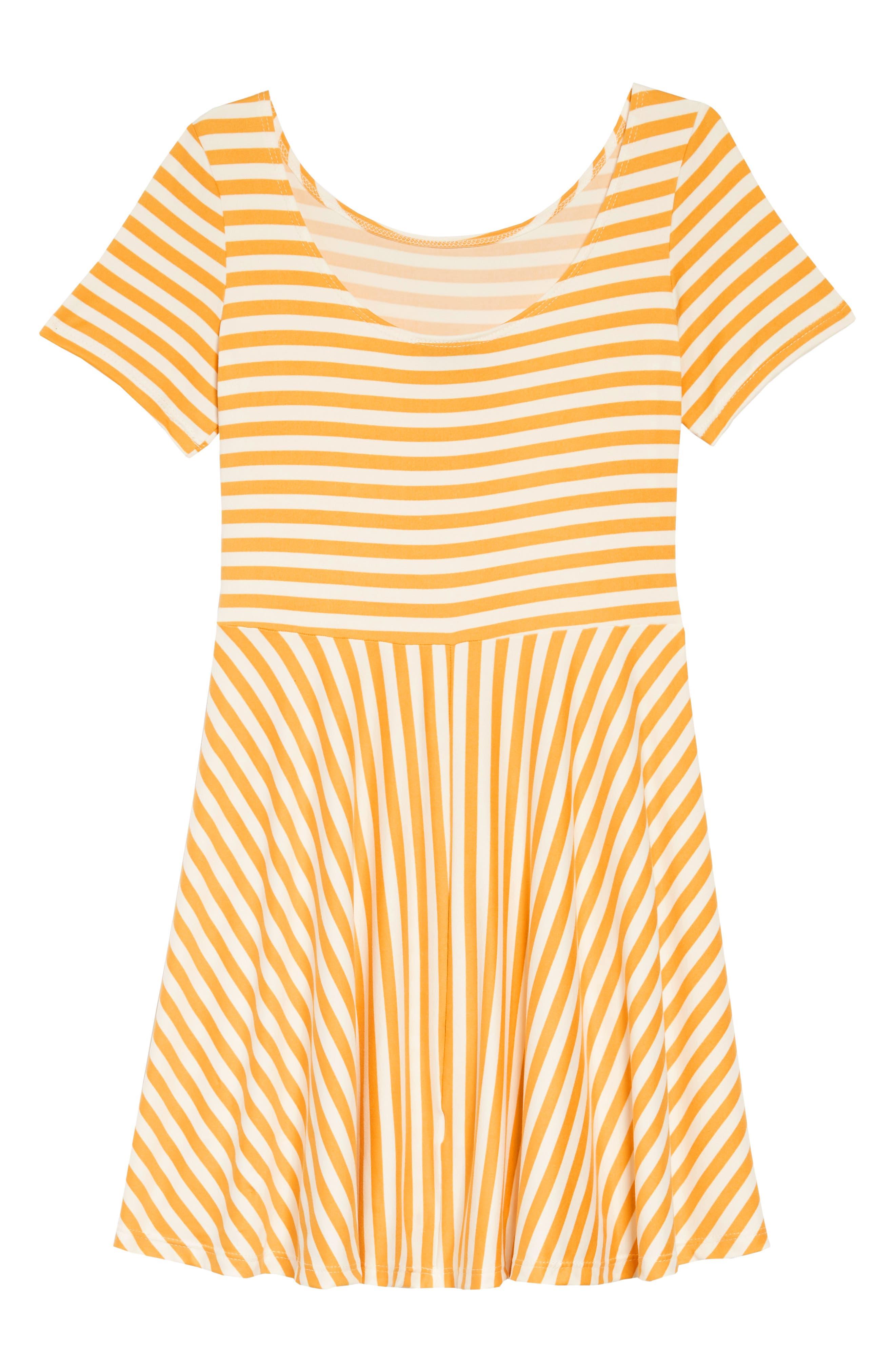 Blooming Skater Dress,                             Alternate thumbnail 2, color,                             MUSTARD