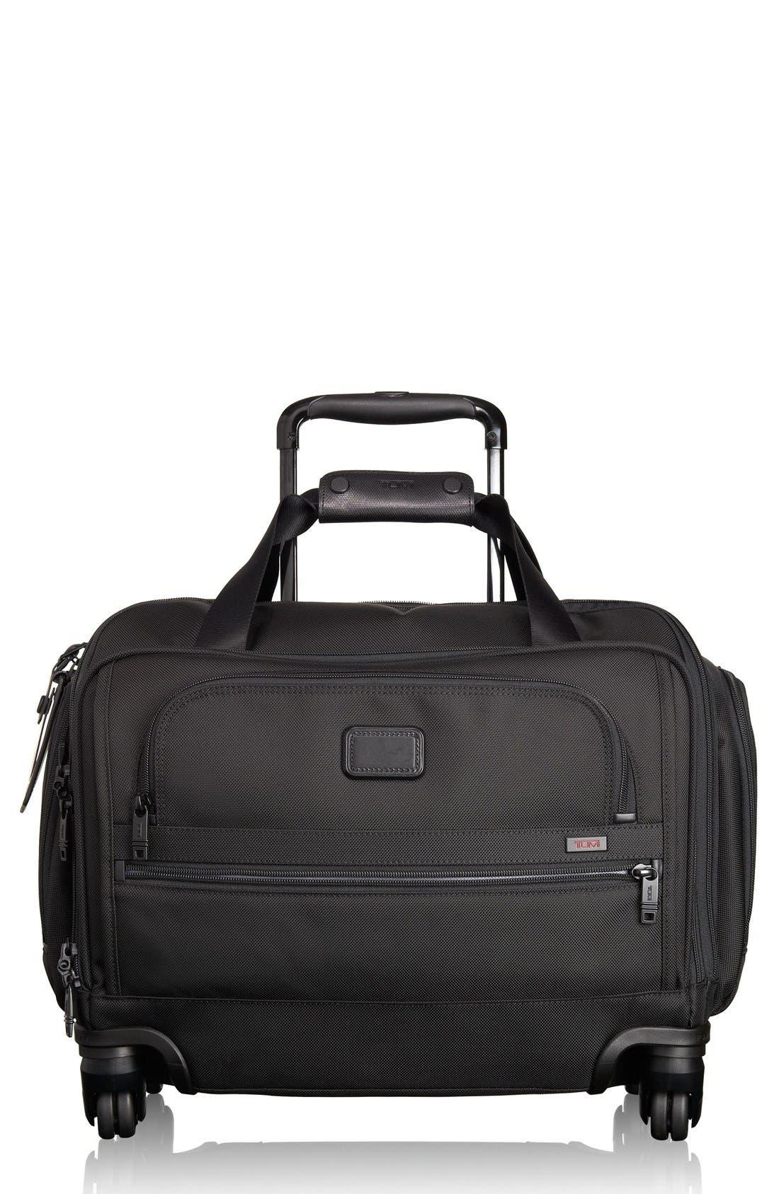 Alpha 2 20-Inch Wheeled Duffel Bag,                             Main thumbnail 1, color,                             BLACK