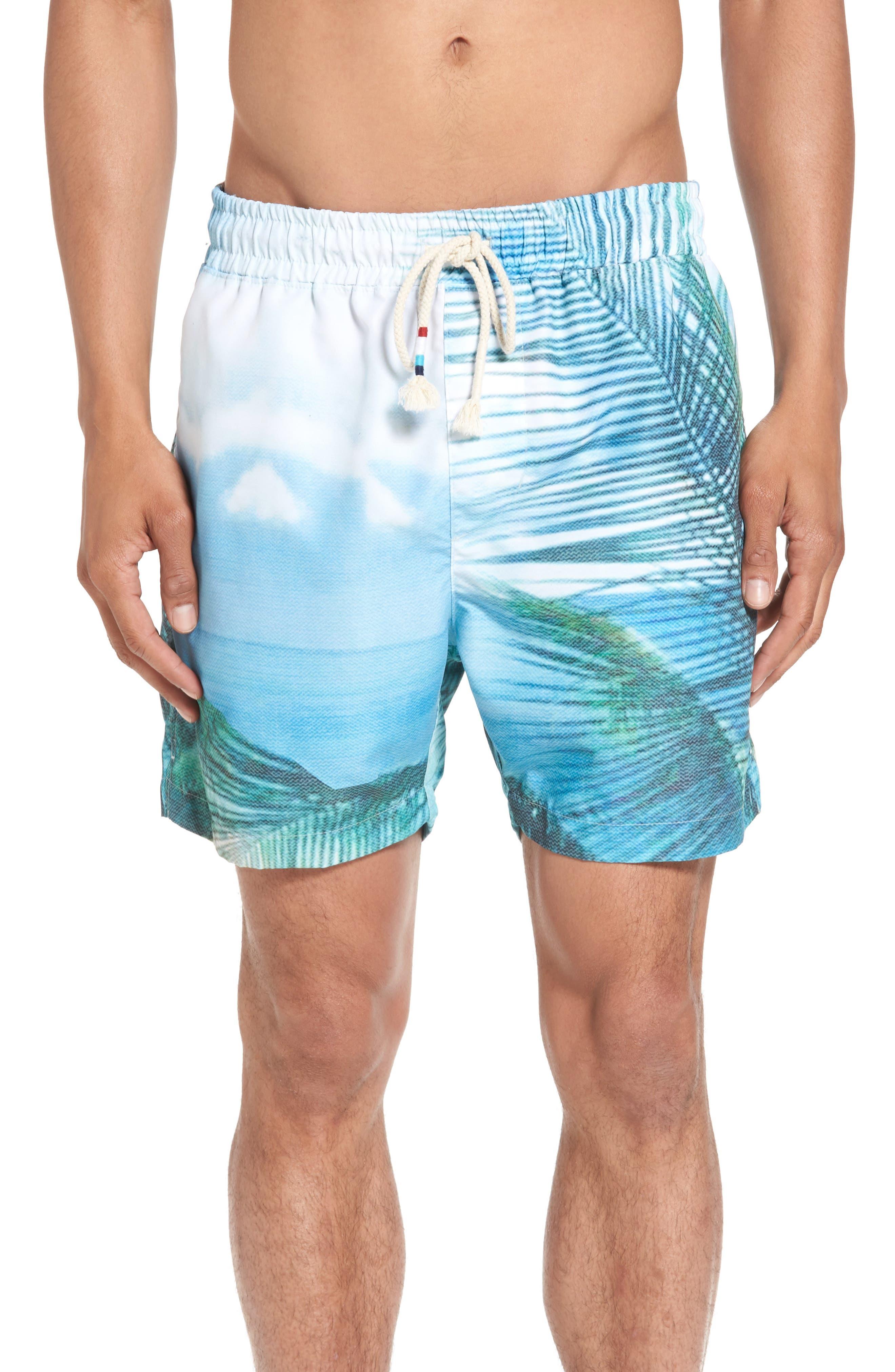 Quintana Print Swim Trunks,                         Main,                         color,