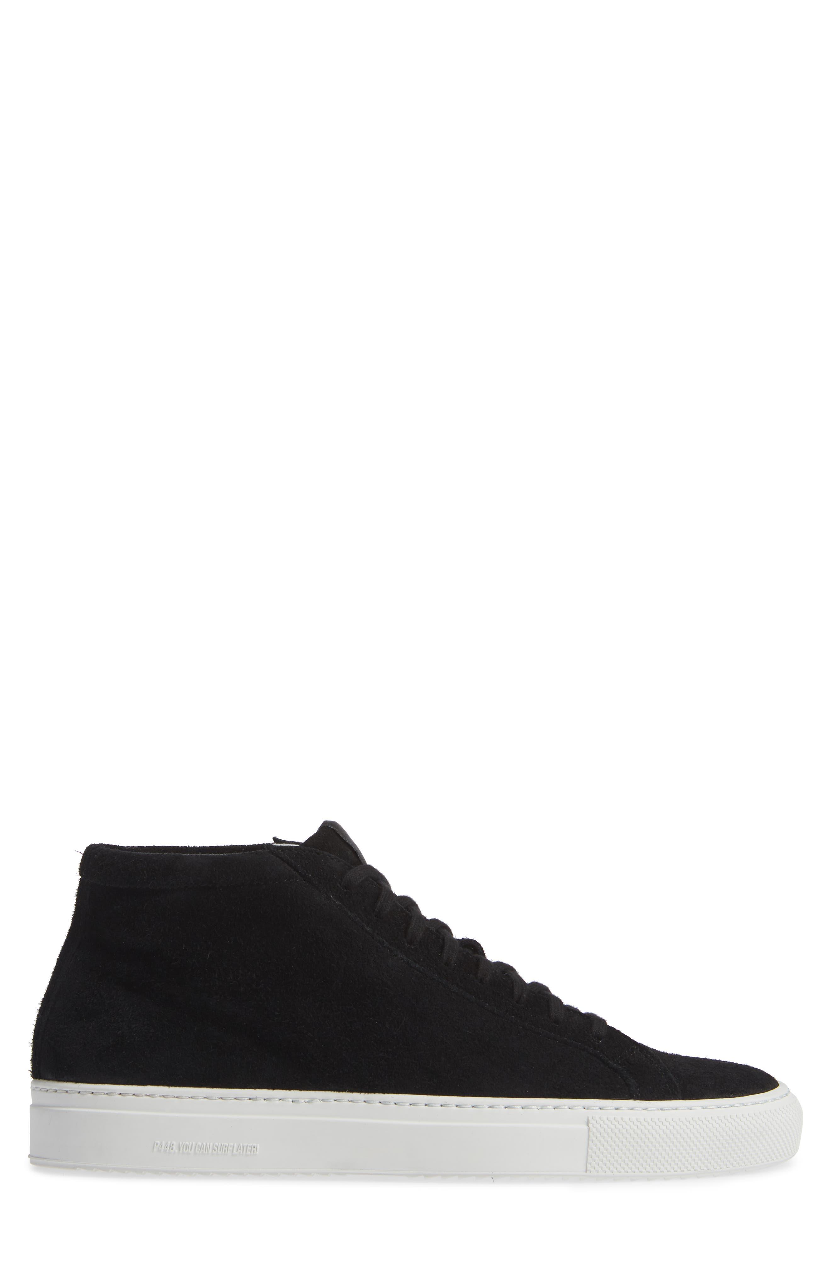 A8Elevent Mid Sneaker,                             Alternate thumbnail 3, color,                             BLACK BRUSH