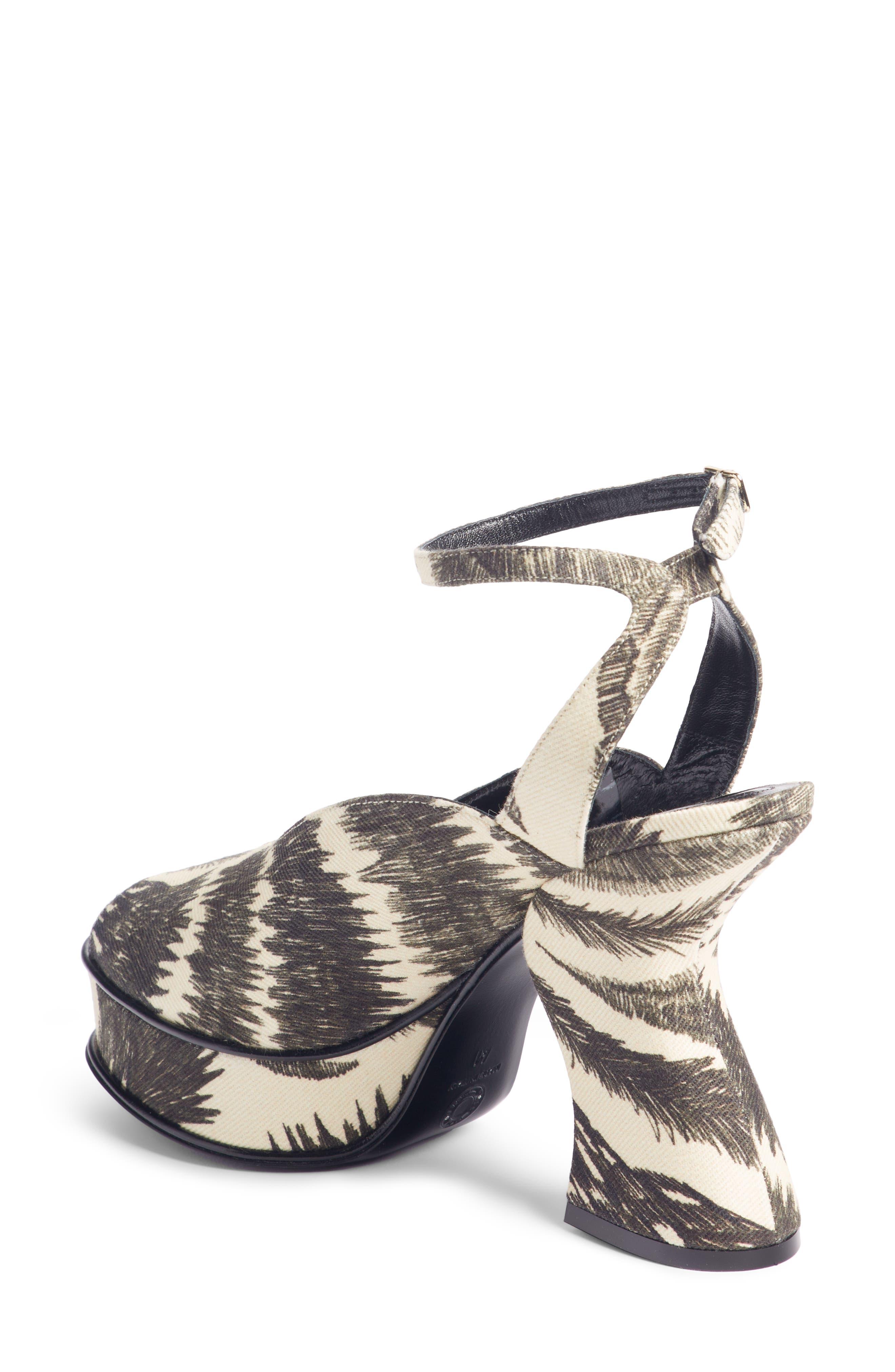 Wave Heel Platform Sandal,                             Alternate thumbnail 2, color,                             BLACK/ IVORY