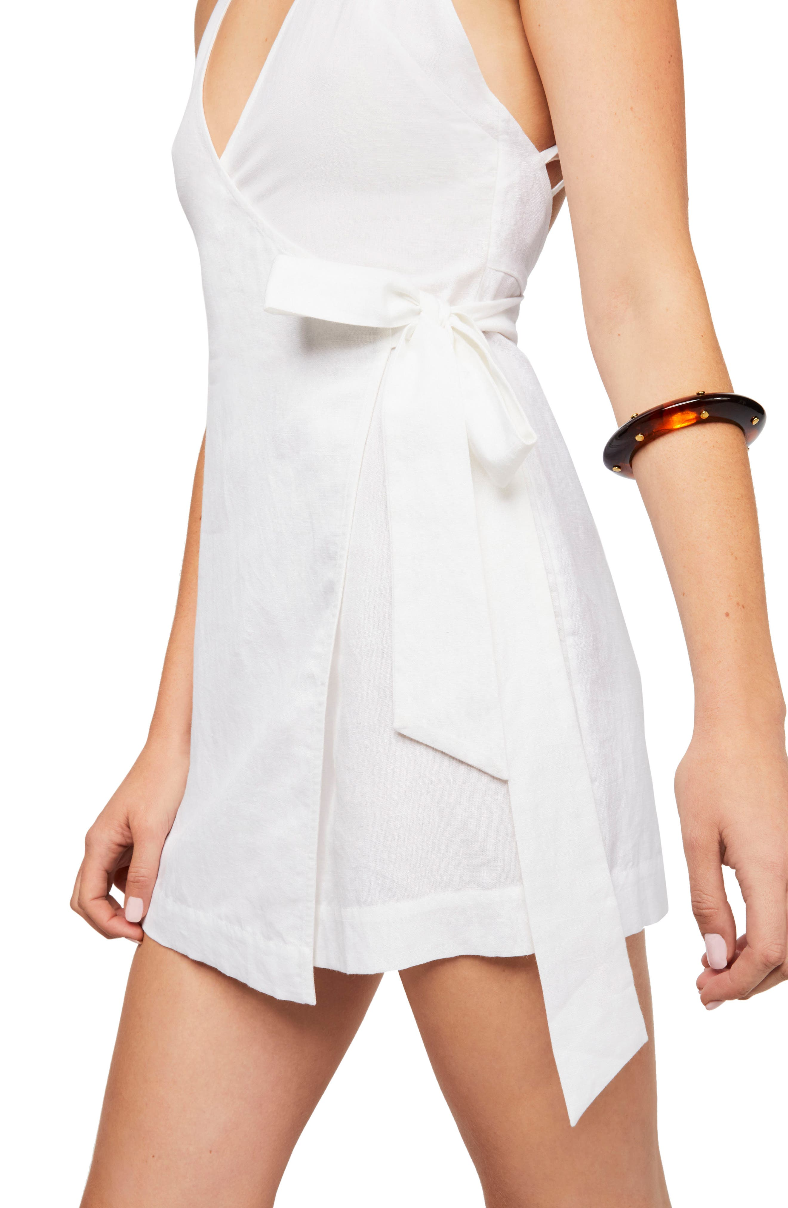 Endless Summer by Free People Fine Lines Minidress,                             Alternate thumbnail 3, color,                             100