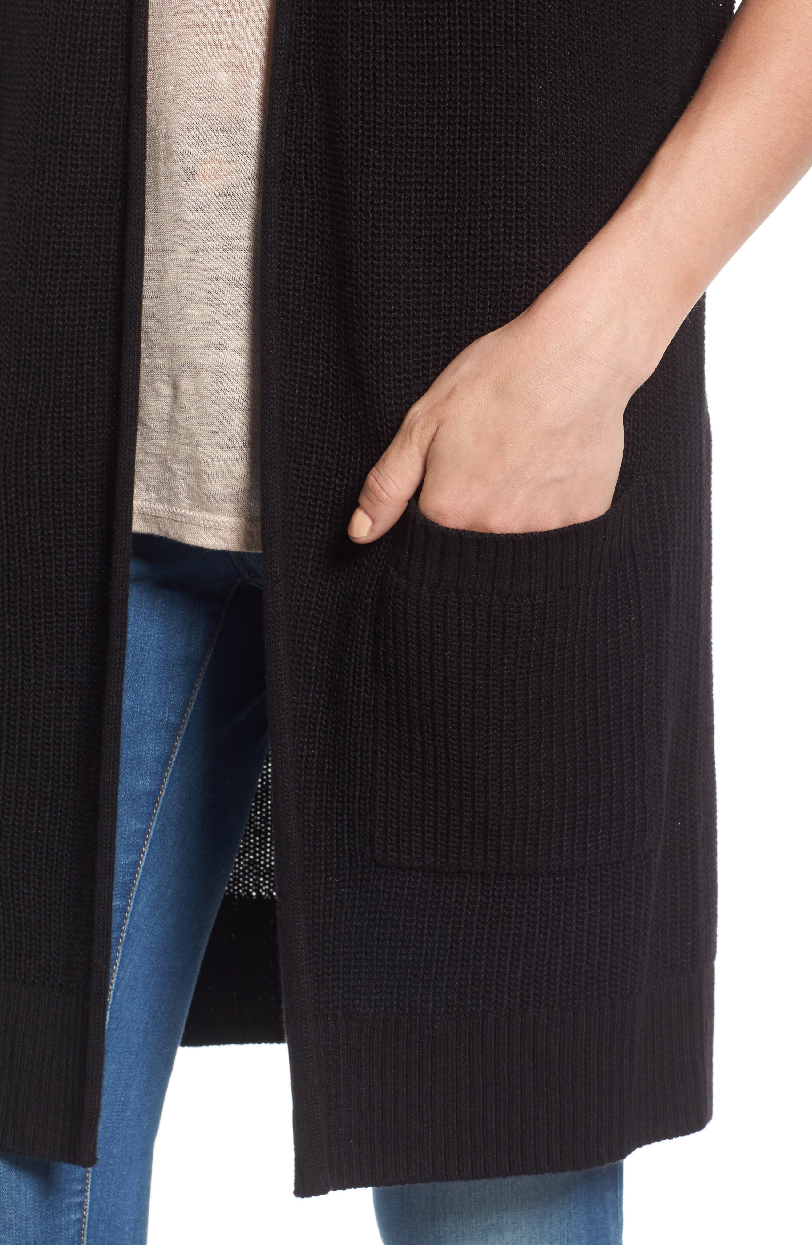 Shaker Stitch Open Front Cardigan,                             Alternate thumbnail 13, color,