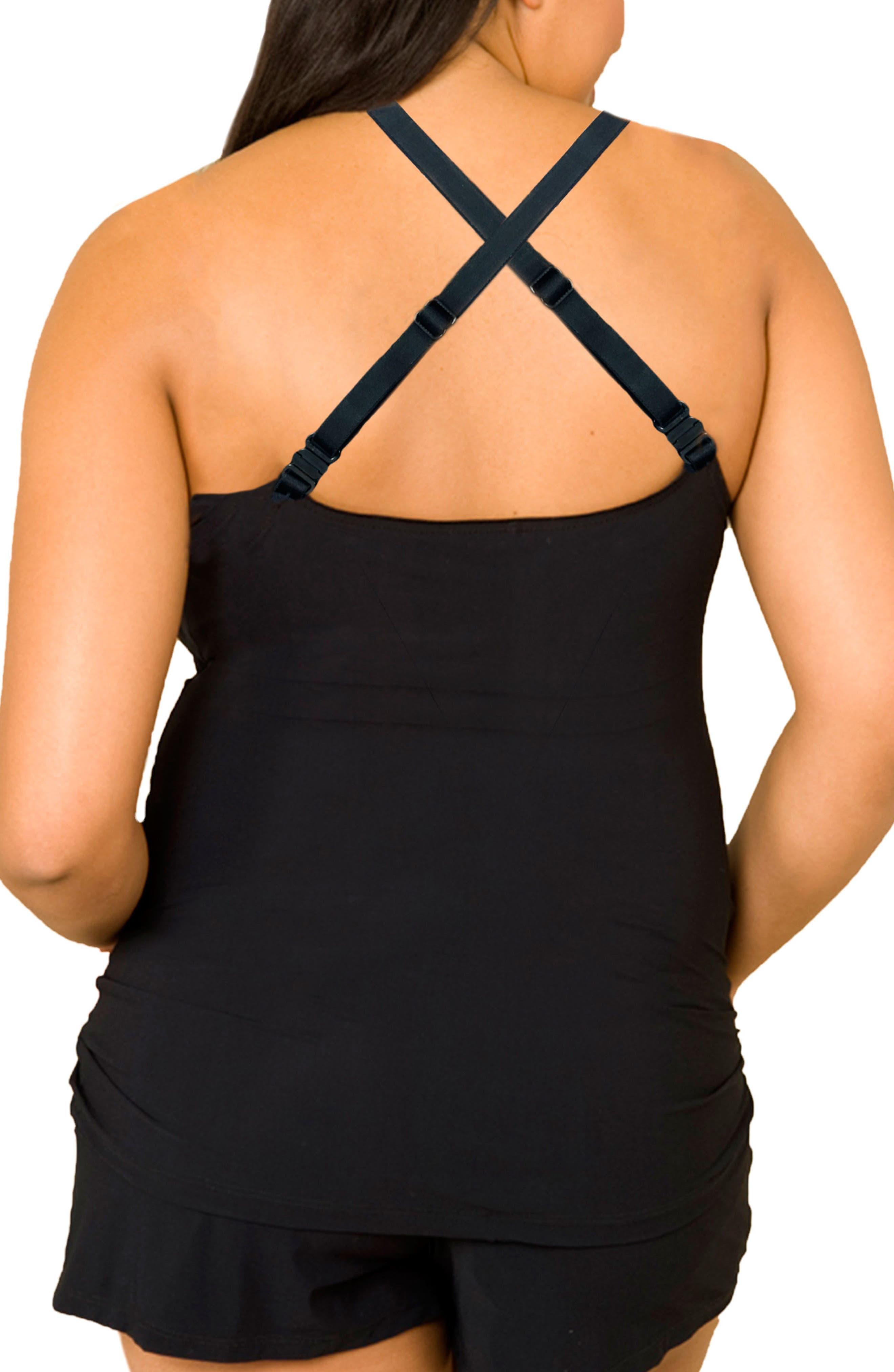 Choice Full Figure Maternity/Nursing Camisole,                             Alternate thumbnail 2, color,                             BLACK