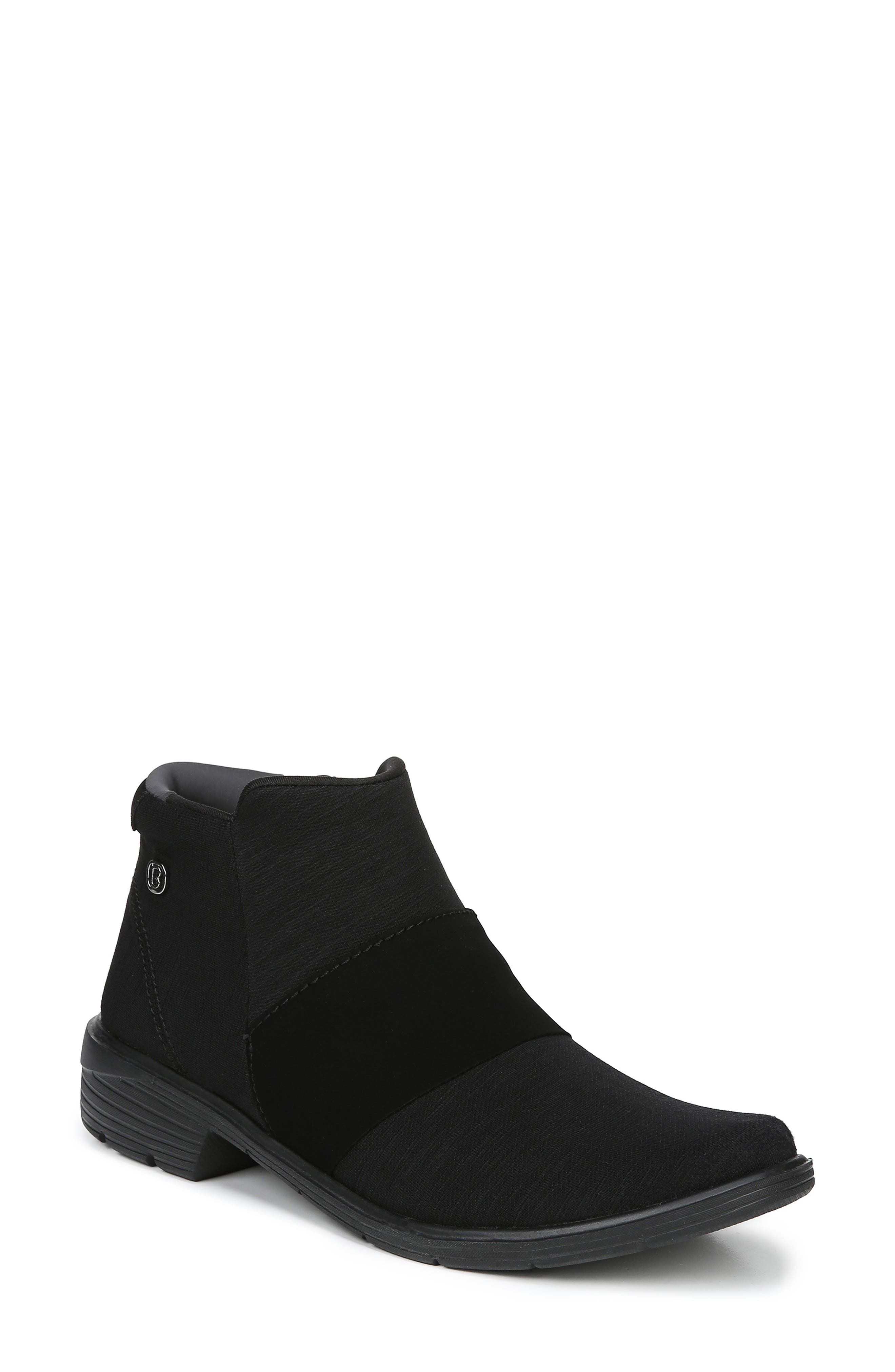 BZEES Billie Bootie, Main, color, BLACK THICK HEATHER FABRIC