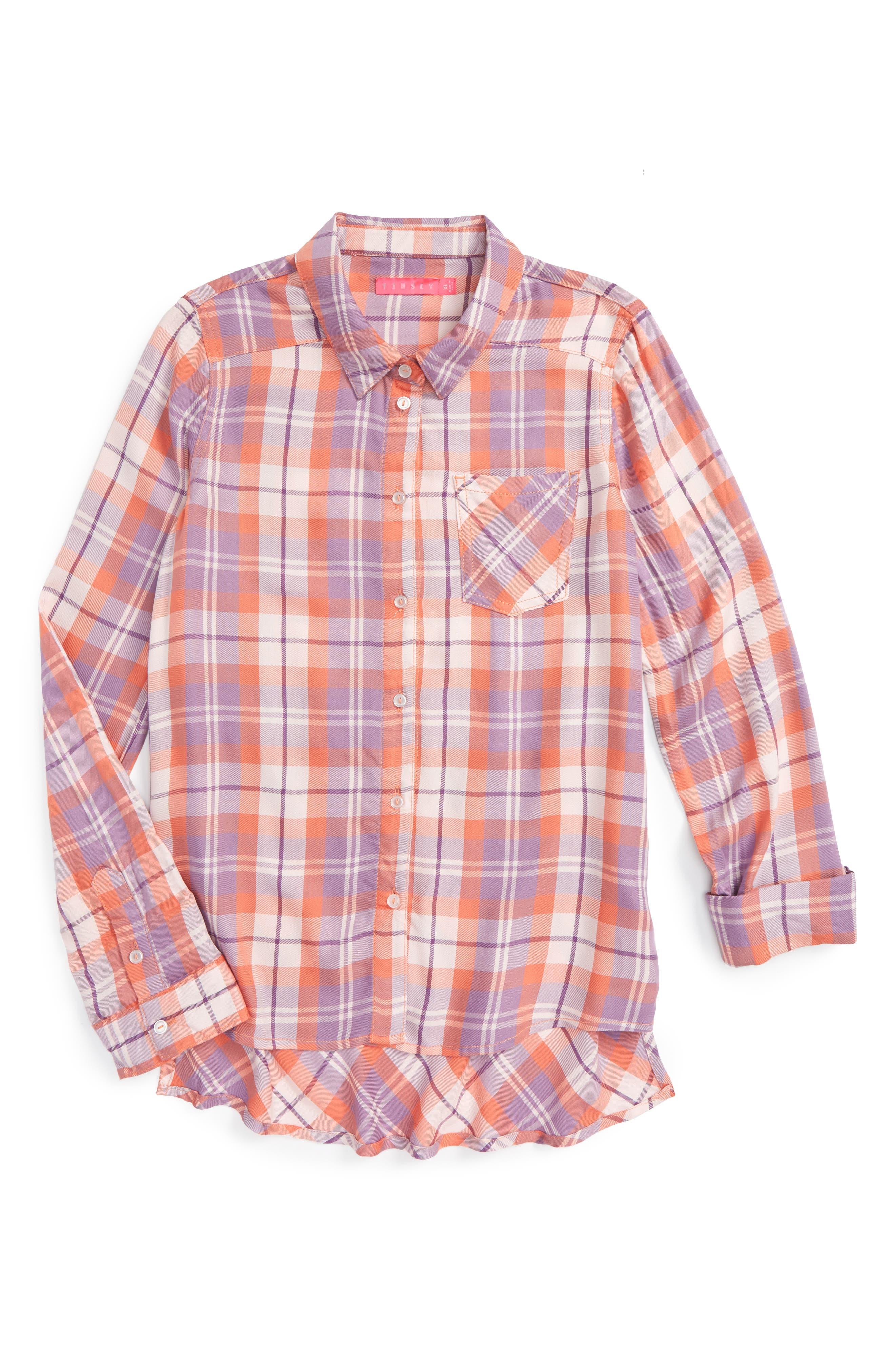 Fire Plaid Woven Shirt,                             Main thumbnail 4, color,